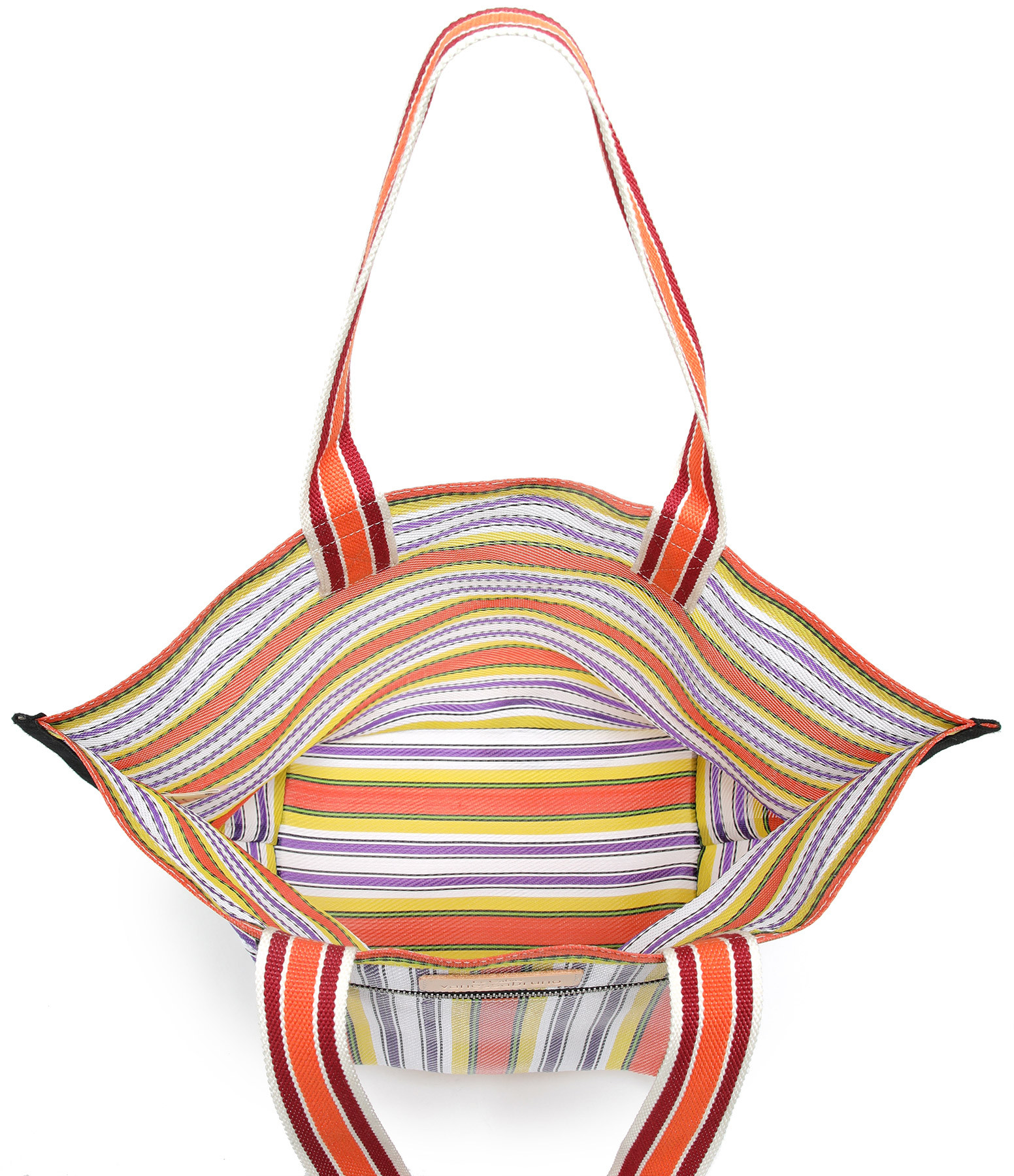 VANESSA BRUNO - Cabas Medium Multicolore Orange