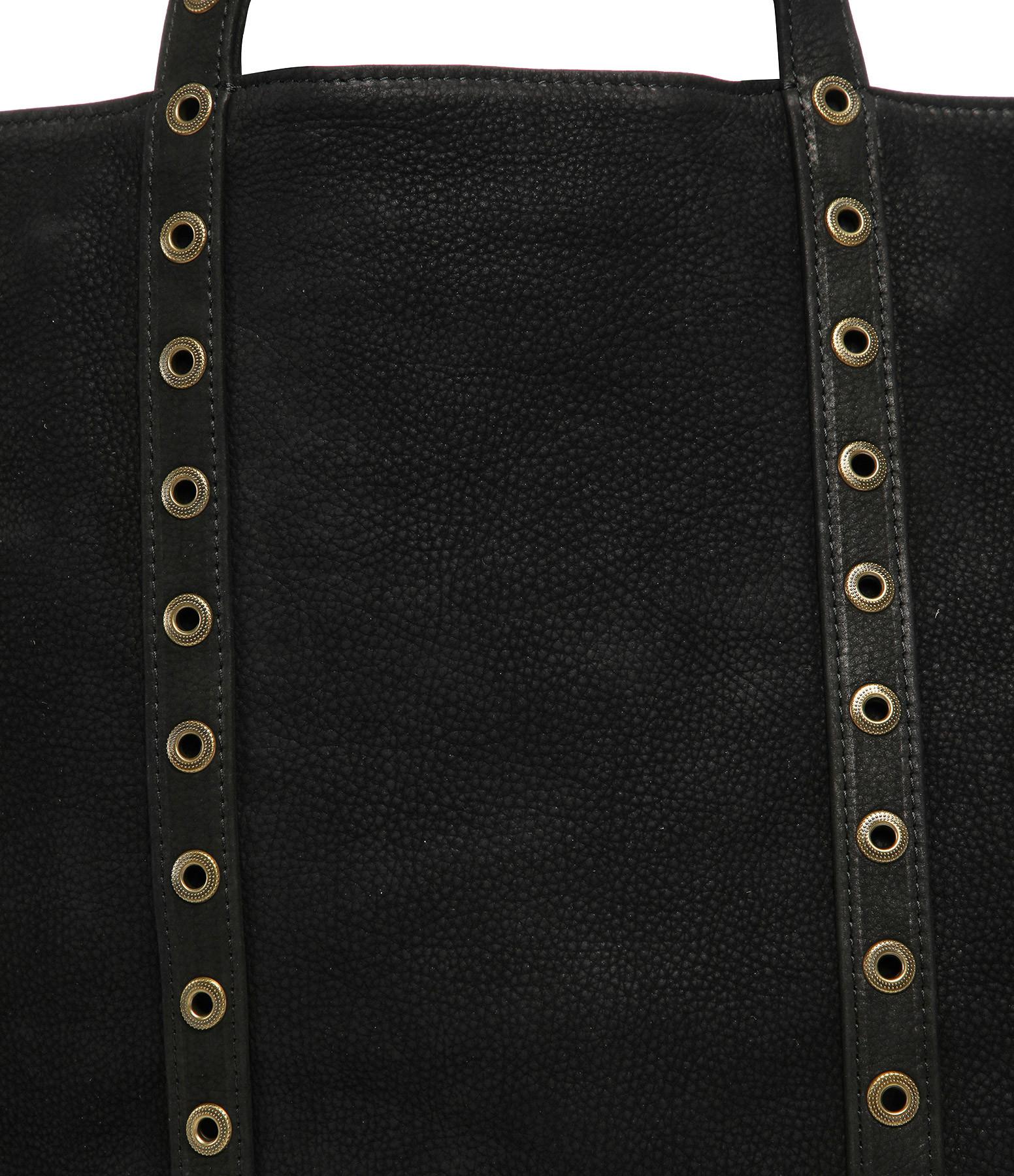 VANESSA BRUNO - Cabas Medium Nubuck Œillets Noir