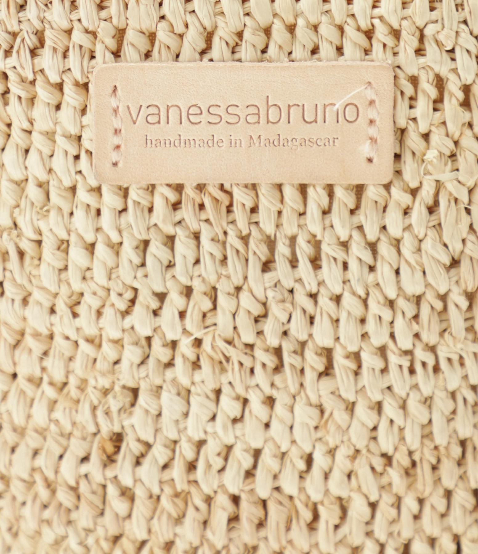 VANESSA BRUNO - Porte Téléphone Raphia Bulles Naturel