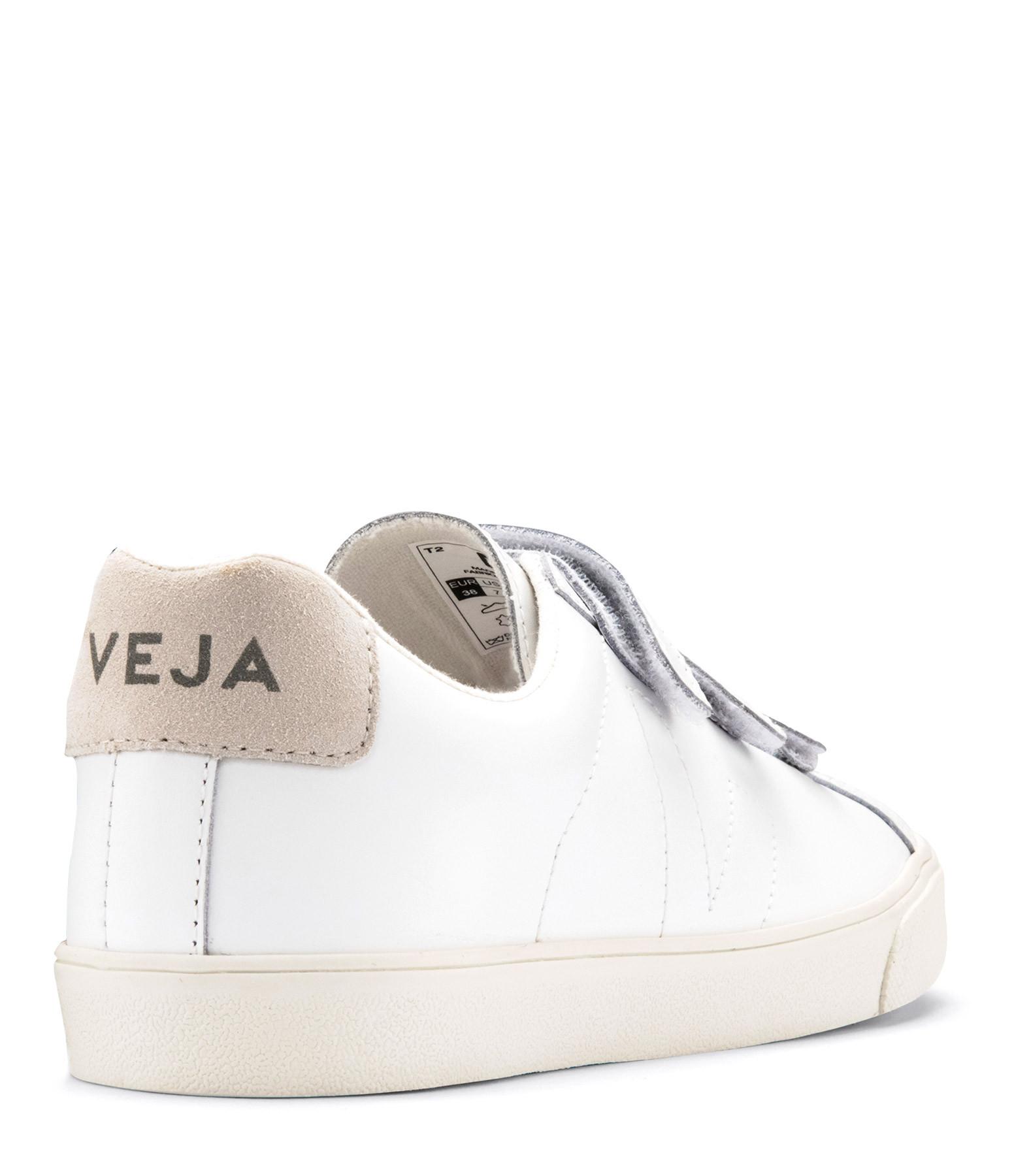 VEJA - Baskets 3-Lock Logo Cuir Extra White