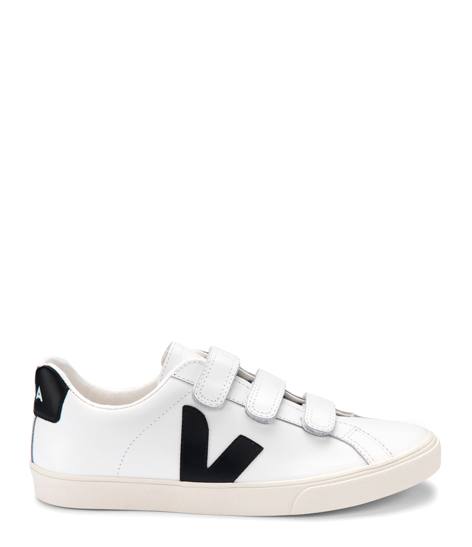 VEJA - Baskets 3-Lock Logo Cuir Extra White Noir