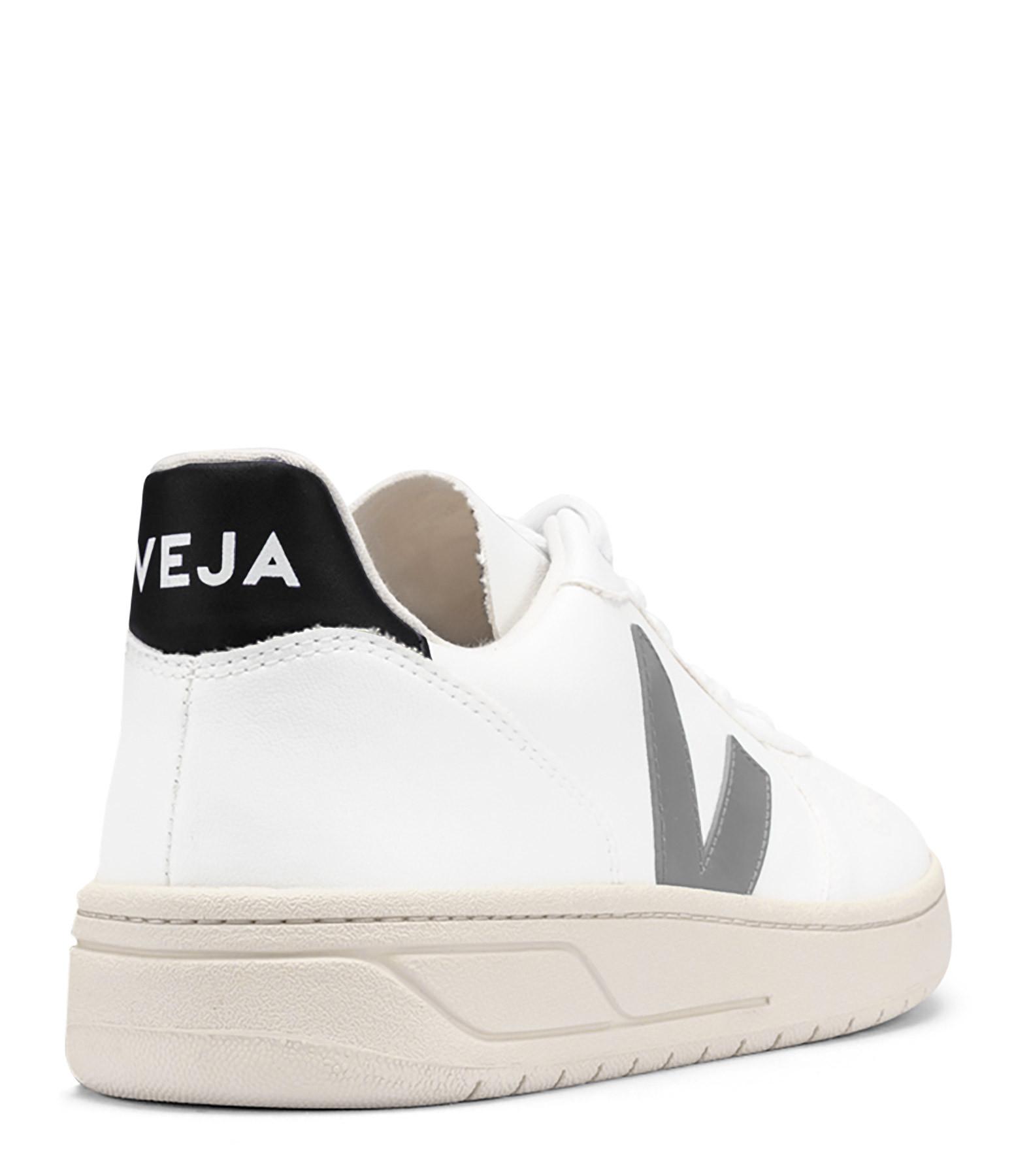 VEJA - Baskets V-10 CWL Blanc Gris Oxford Noir