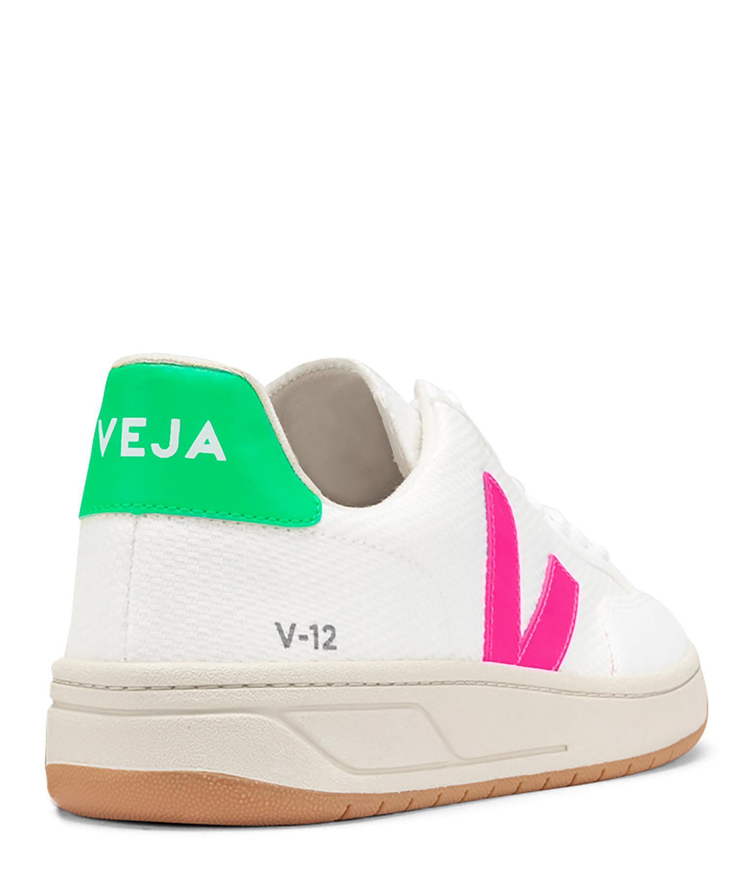 VEJA - Baskets V-12 B-Mesh Blanc Sari Absinthe