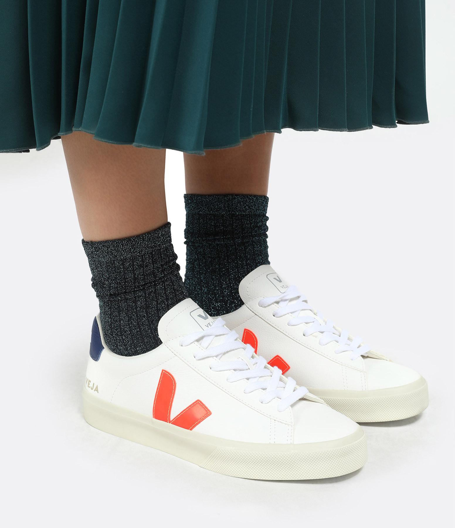 VEJA - Baskets Campo Chromefree Extra White Orange Fluo