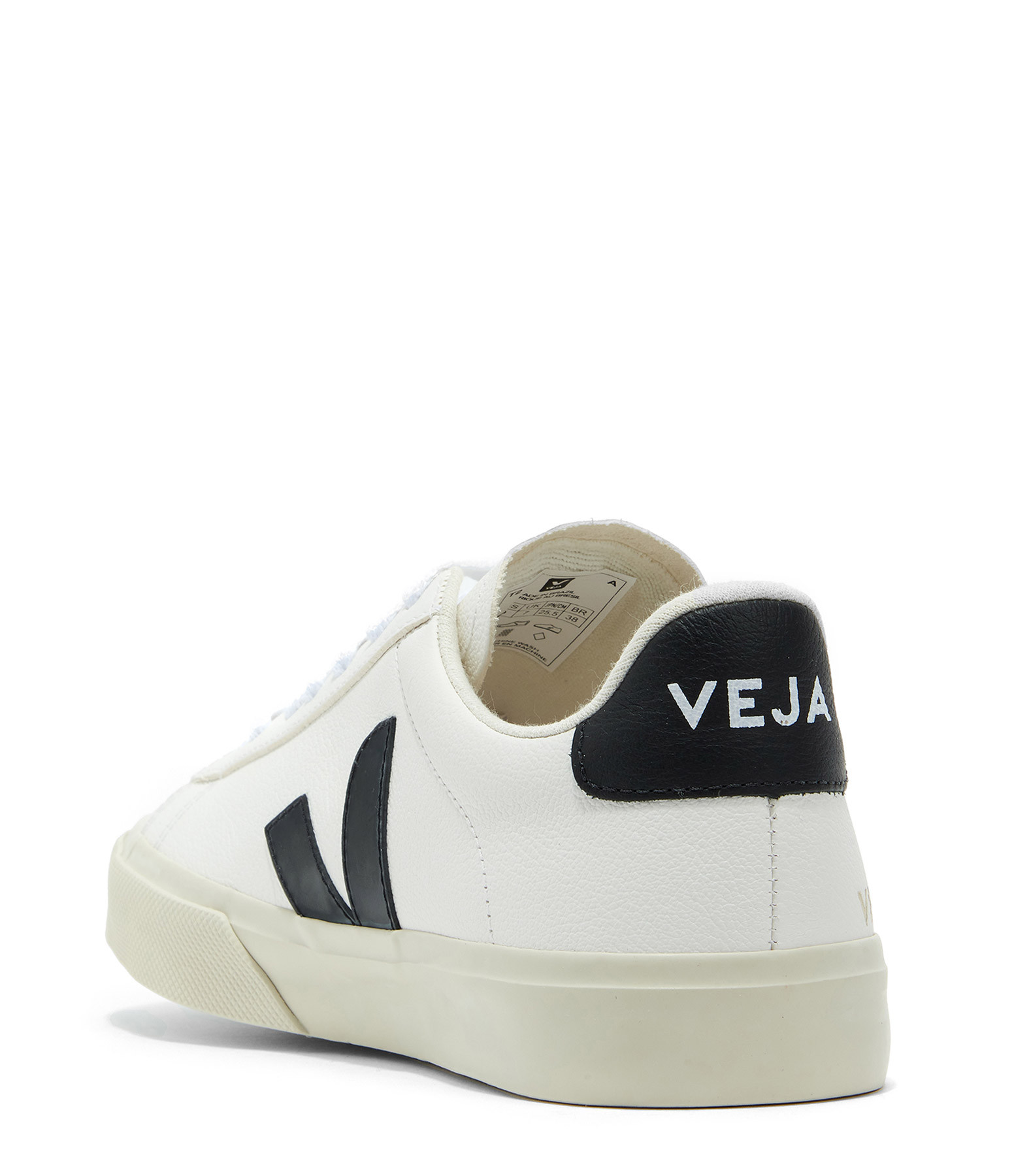 VEJA - Baskets Campo Chromefree Cuir Blanc Noir