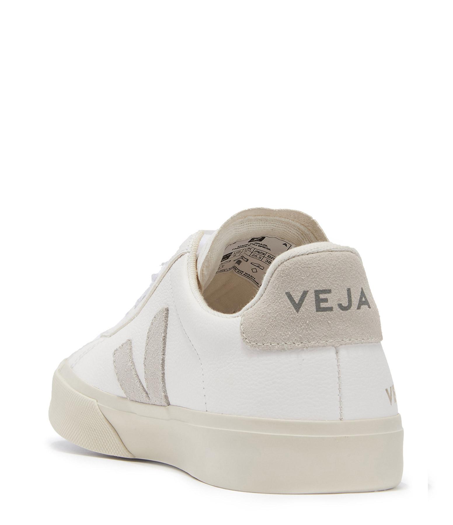 VEJA - Baskets Campo Chromefree Extra White Suédé Naturel