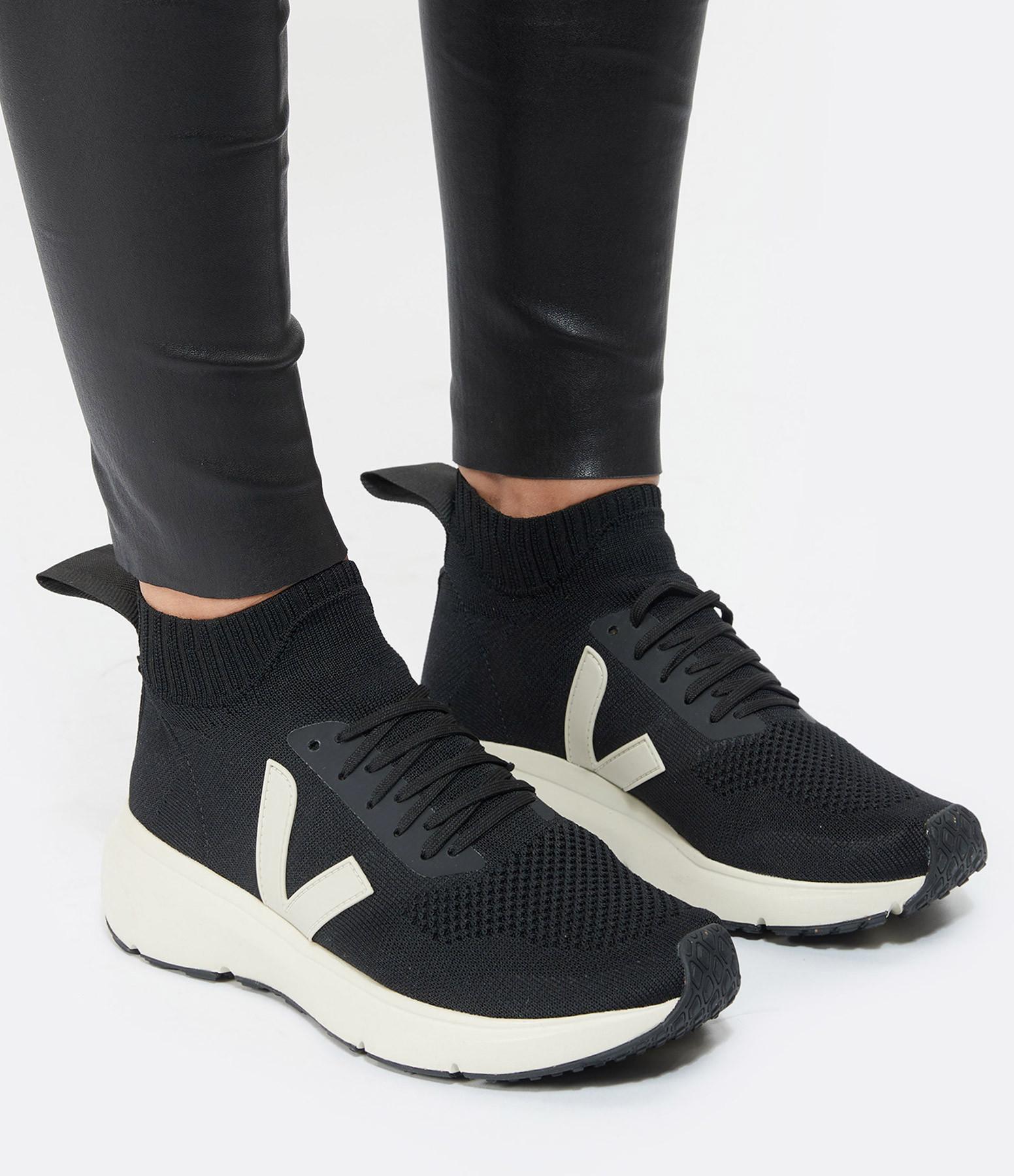VEJA - Baskets Runner Style Mid V-Knit Noir Gris