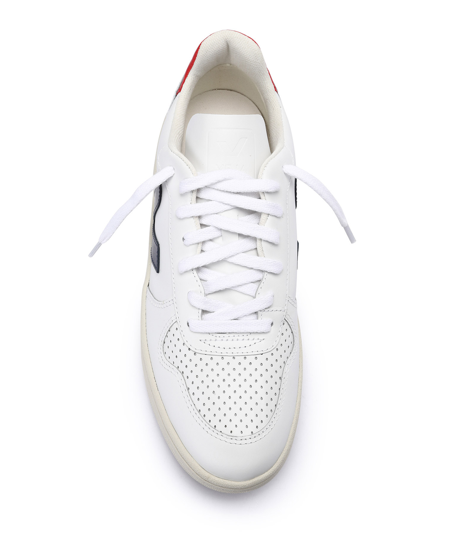VEJA - Baskets V-10 Cuir Extra Blanc Nautico Pekin