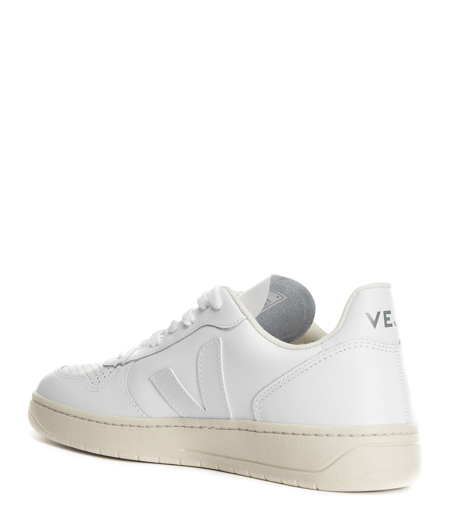 VEJA - Baskets V-10 Cuir Extra Blanc