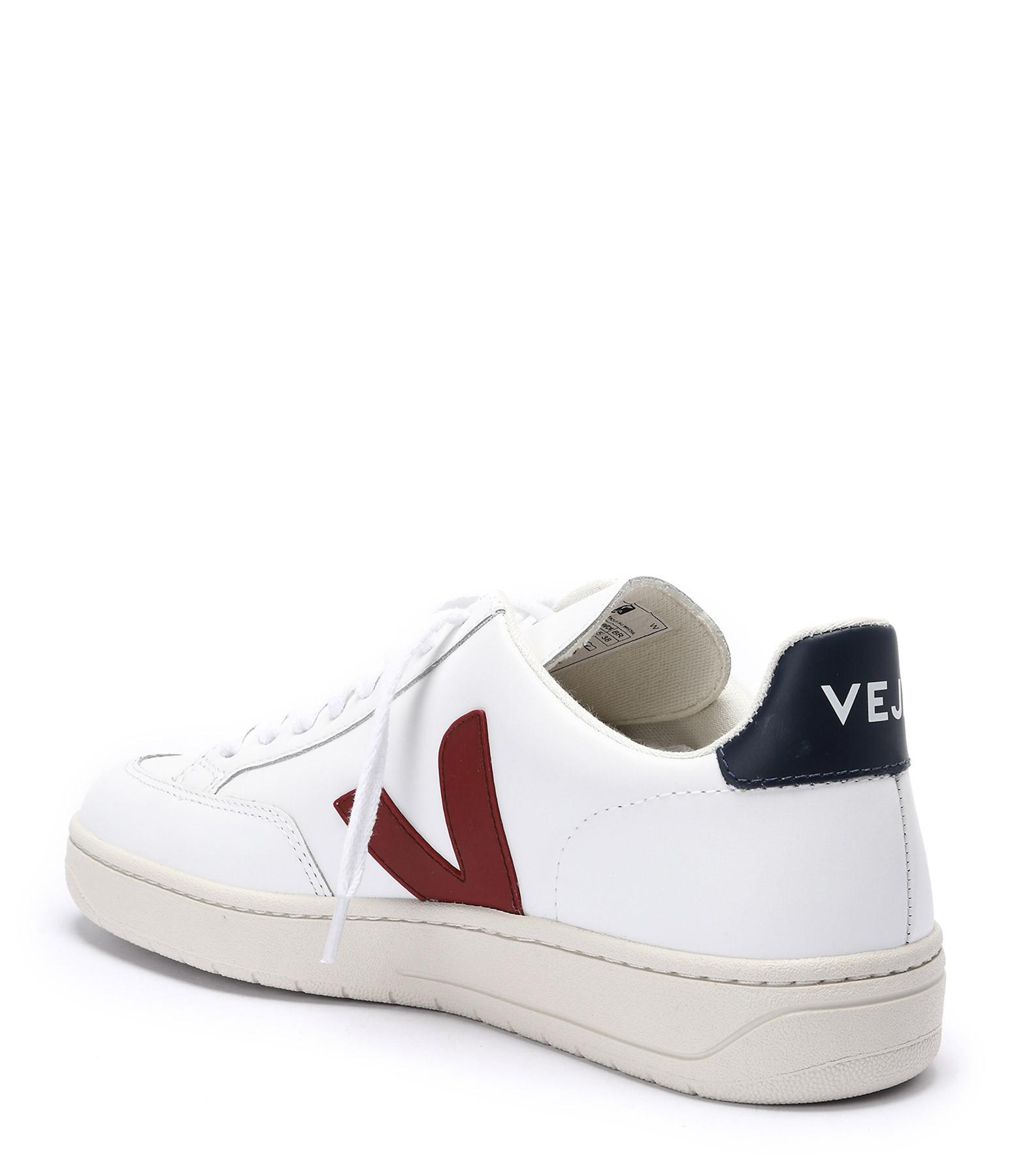 VEJA - Baskets V-12 Cuir Blanc Nautico