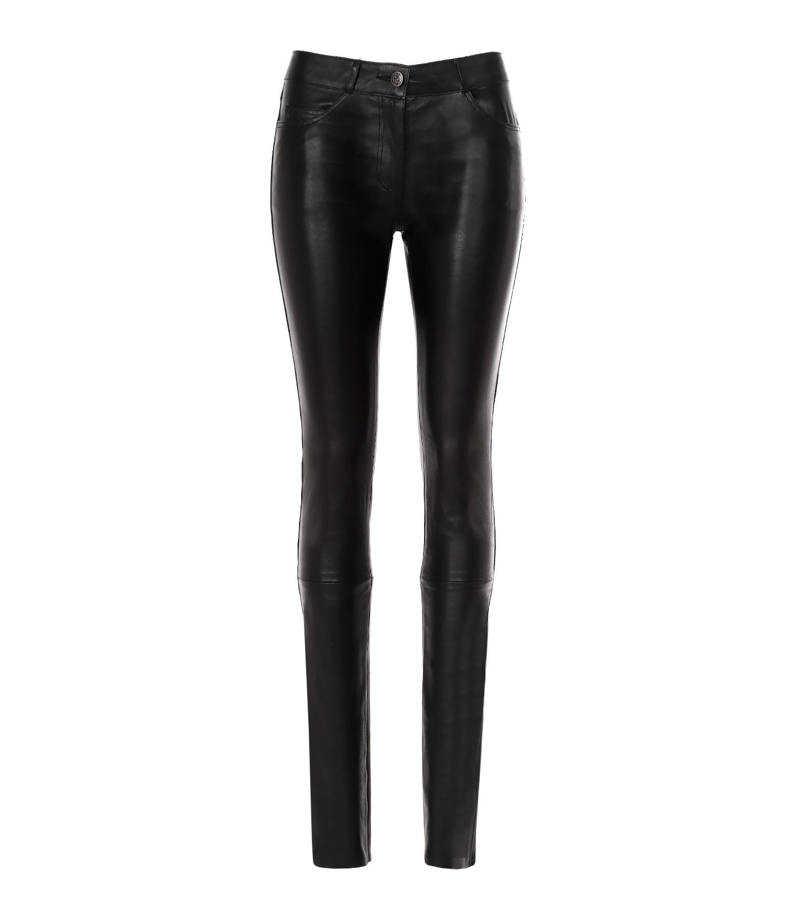 e1e2ed40ce60 Pantalon Agnes Agneau Stretch Noir - VENTCOUVERT