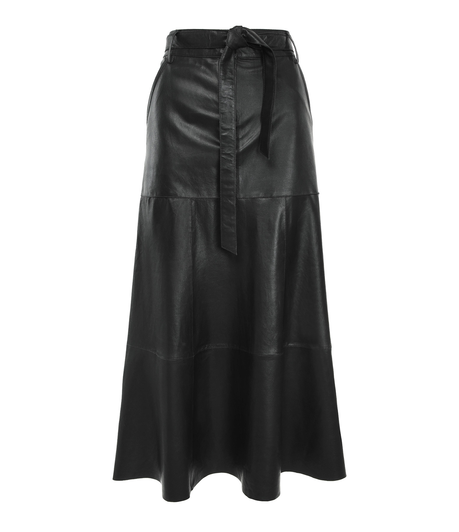 VENTCOUVERT - Jupe Cuir Noir