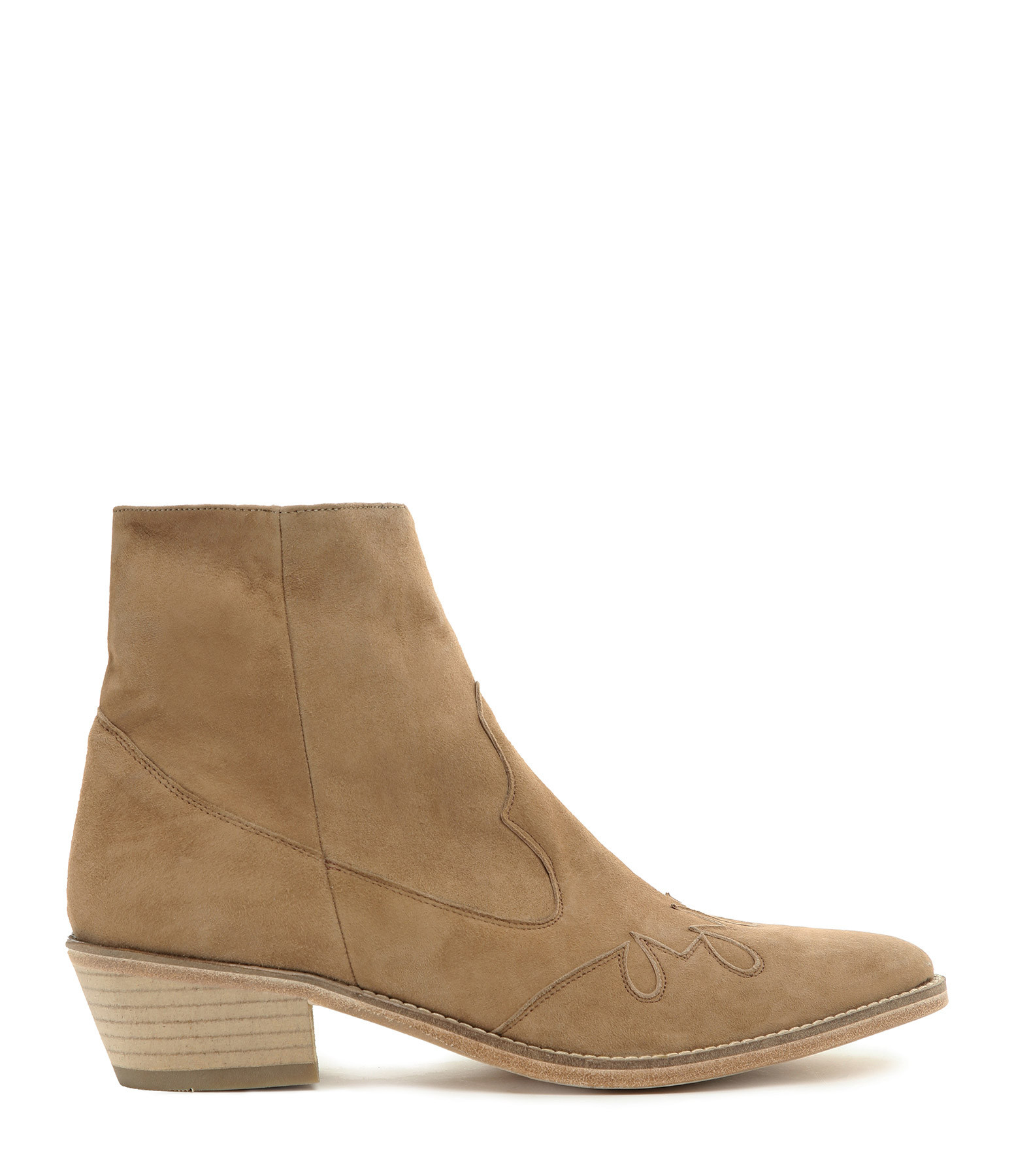 VALENTINE GAUTHIER - Bottines Keith Cuir Tabac