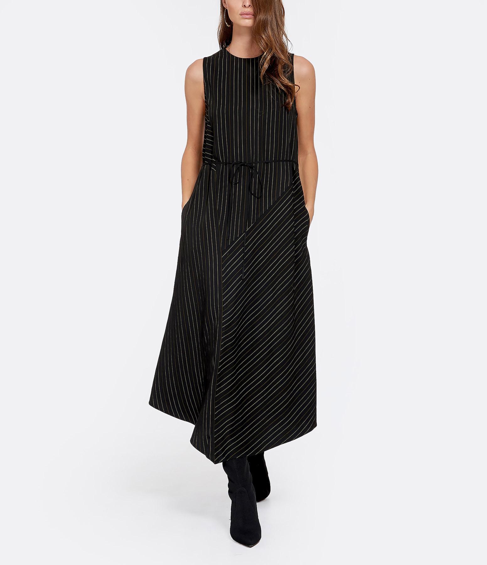 VINCE - Robe Rayures Noir