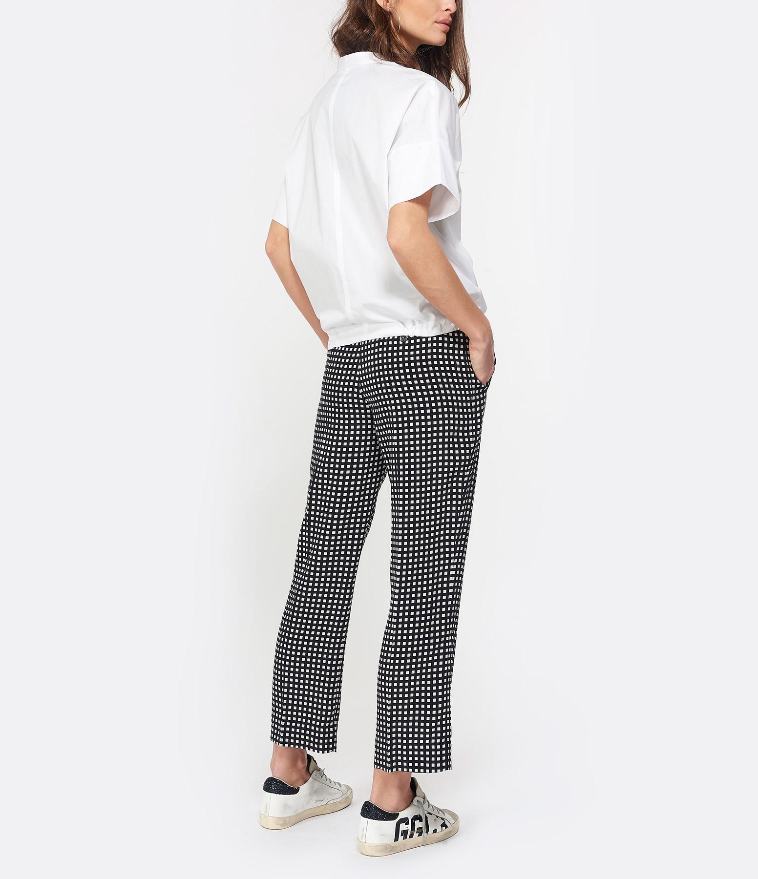 EQUIPMENT - Pantalon Bergen Noir Blanc