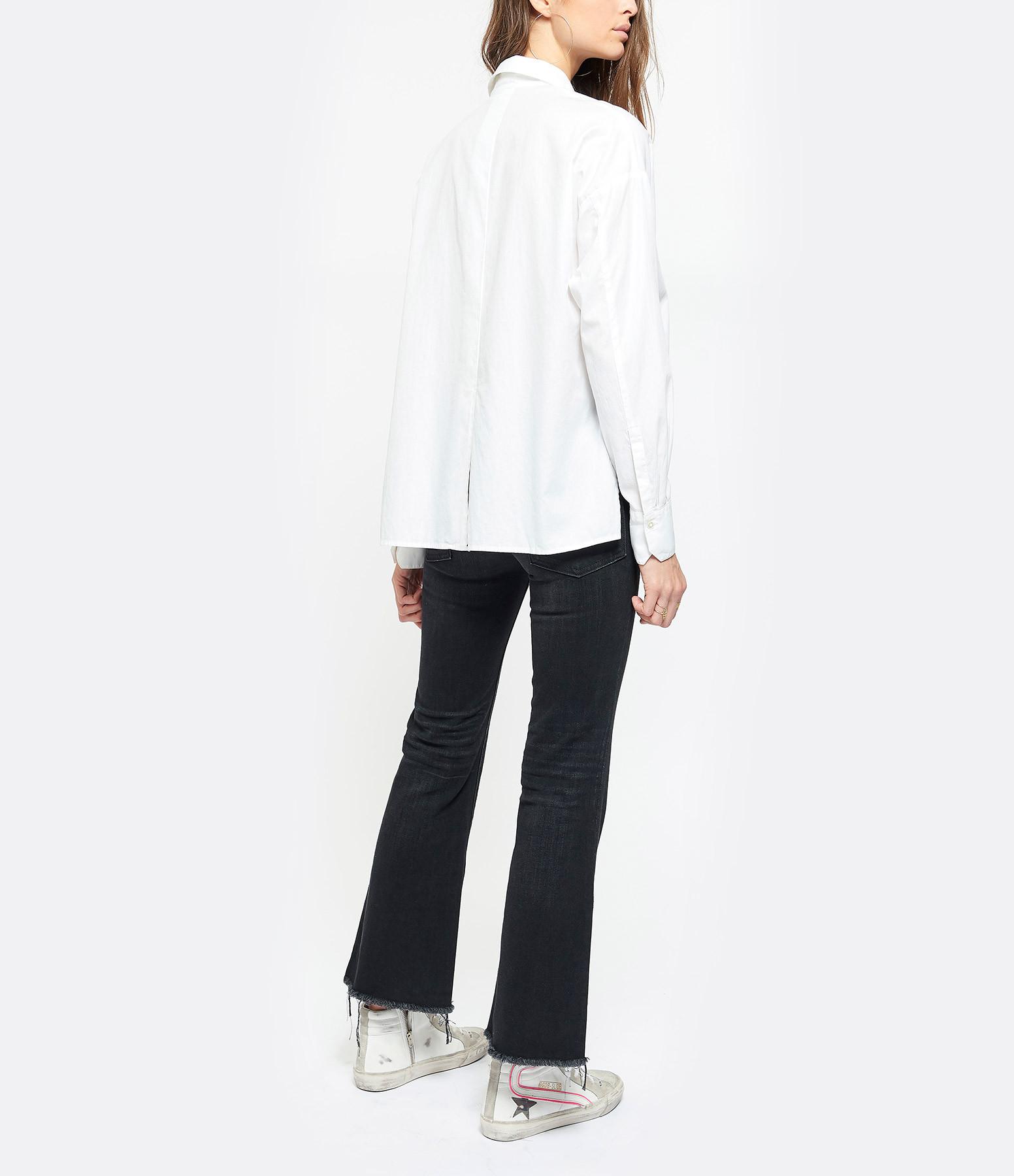 VINCE - Chemise Coton Soie Blanc
