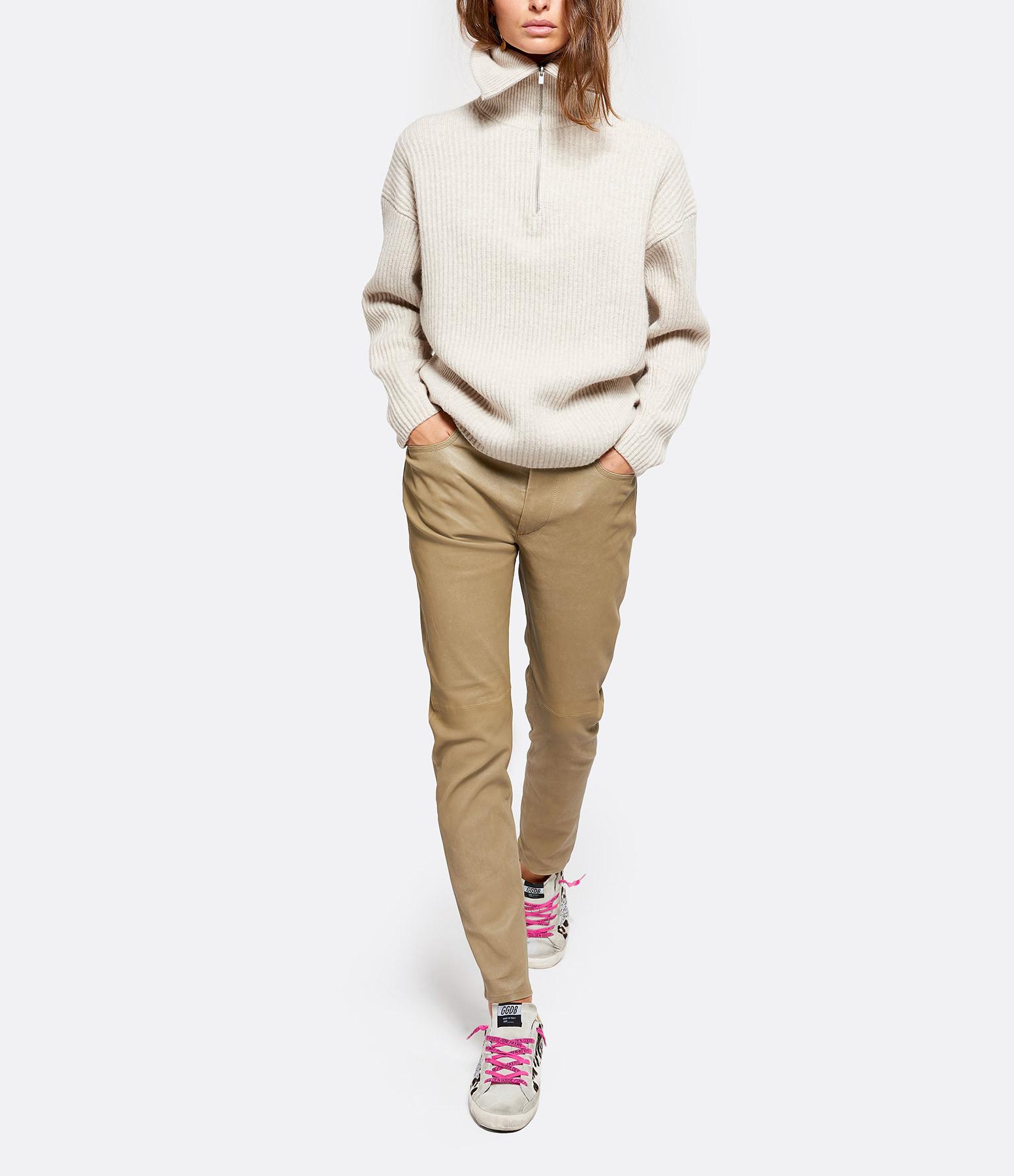 VINCE - Sweatshirt Zip Beige