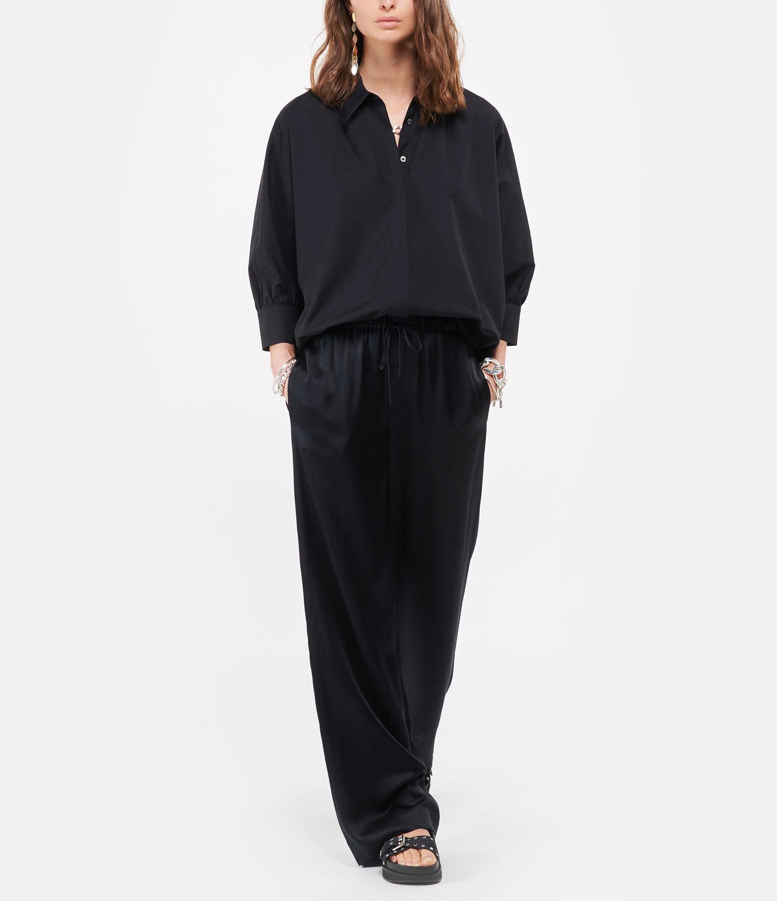 VINCE - Pantalon Satin Noir