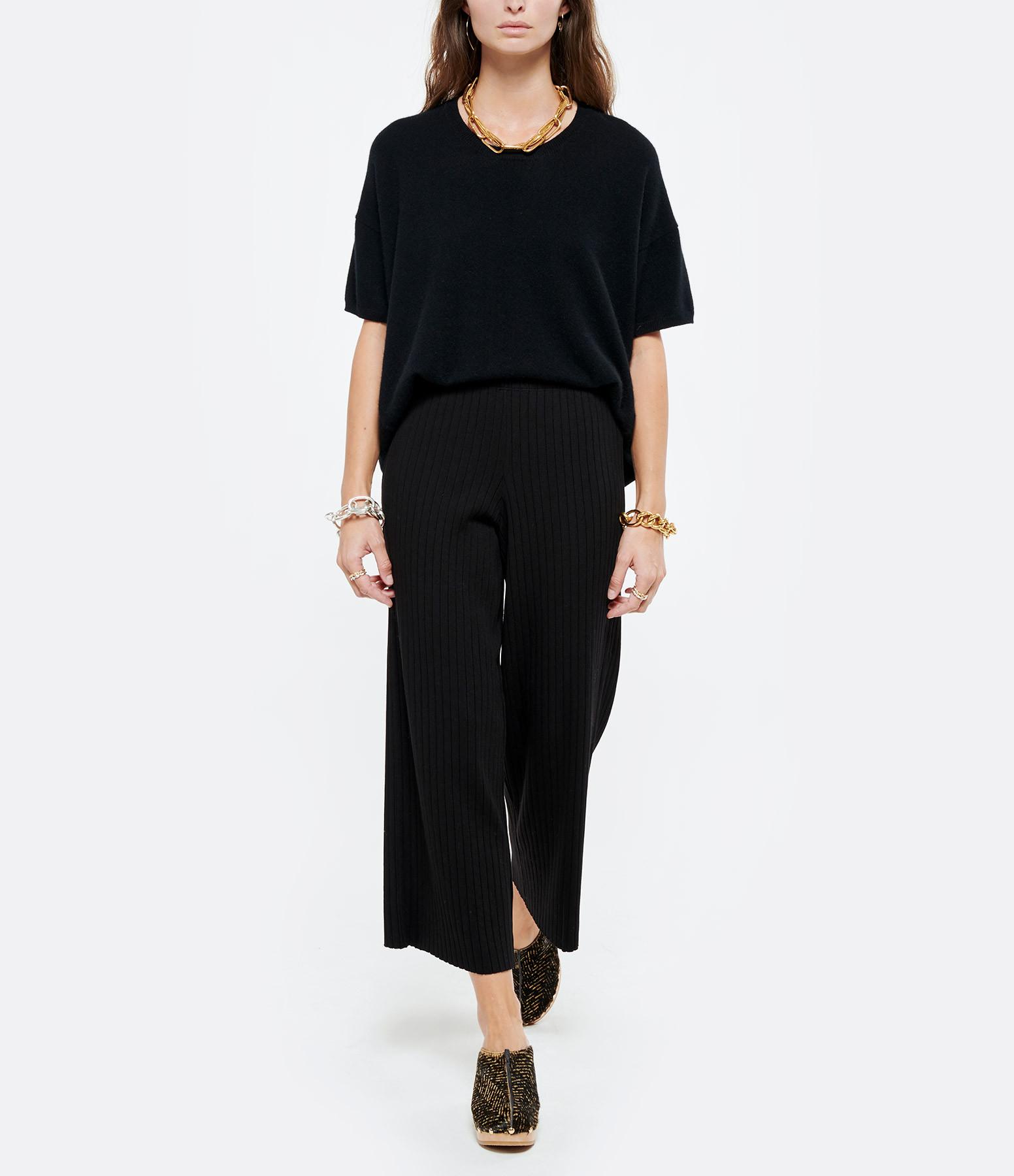 VINCE - Pantalon Côtelé Noir
