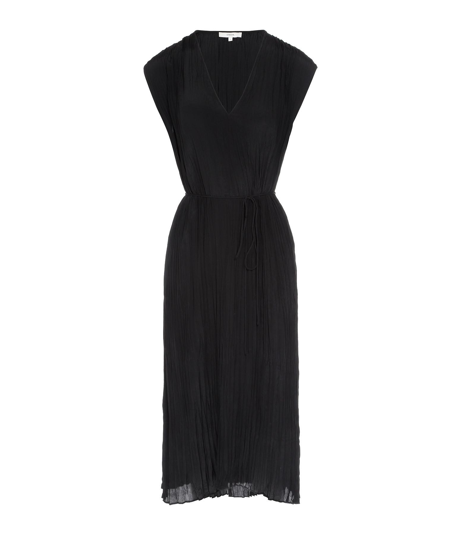 VINCE - Robe Fluide Noir