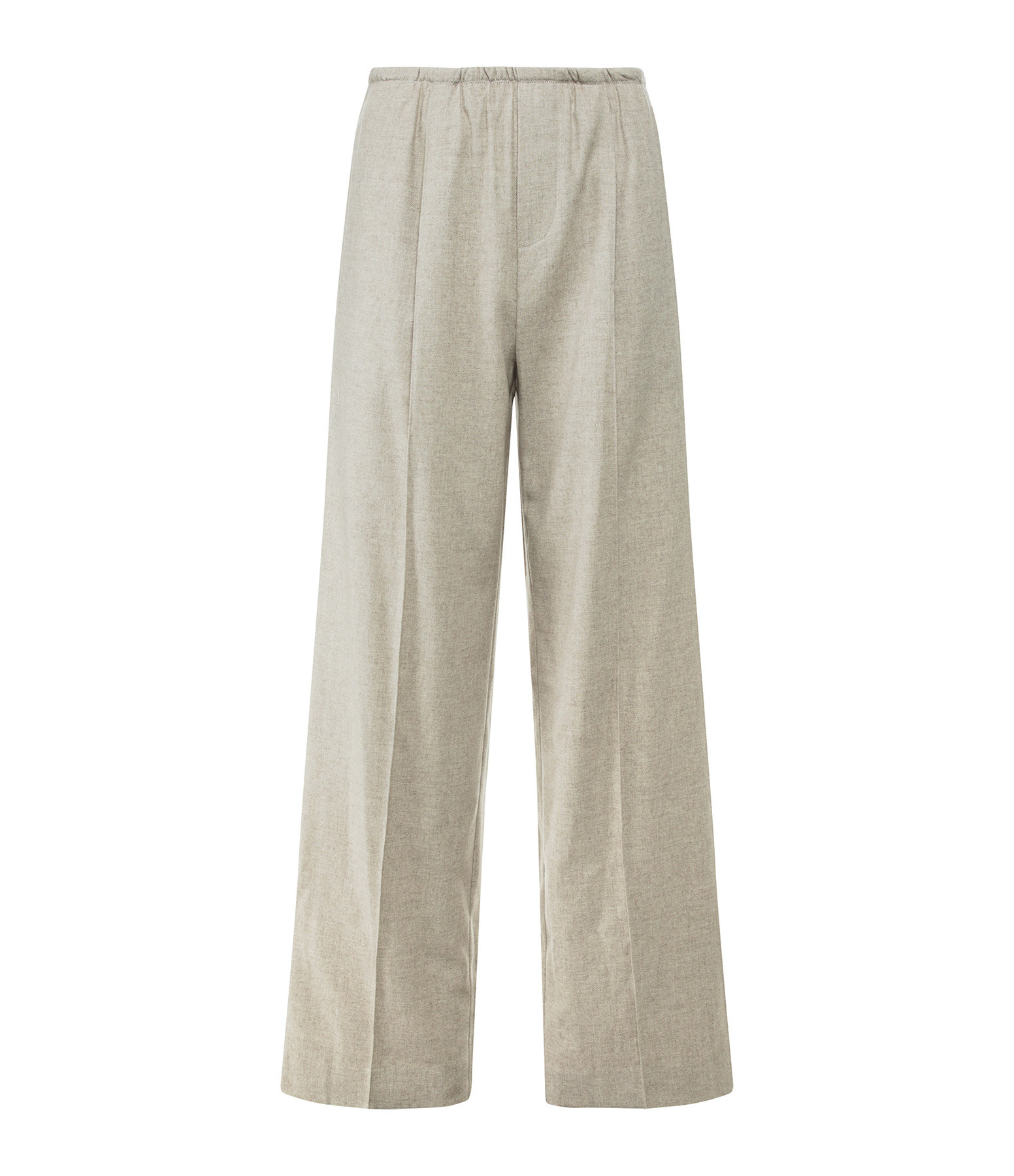 VINCE - Pantalon Large Flanelle Beige