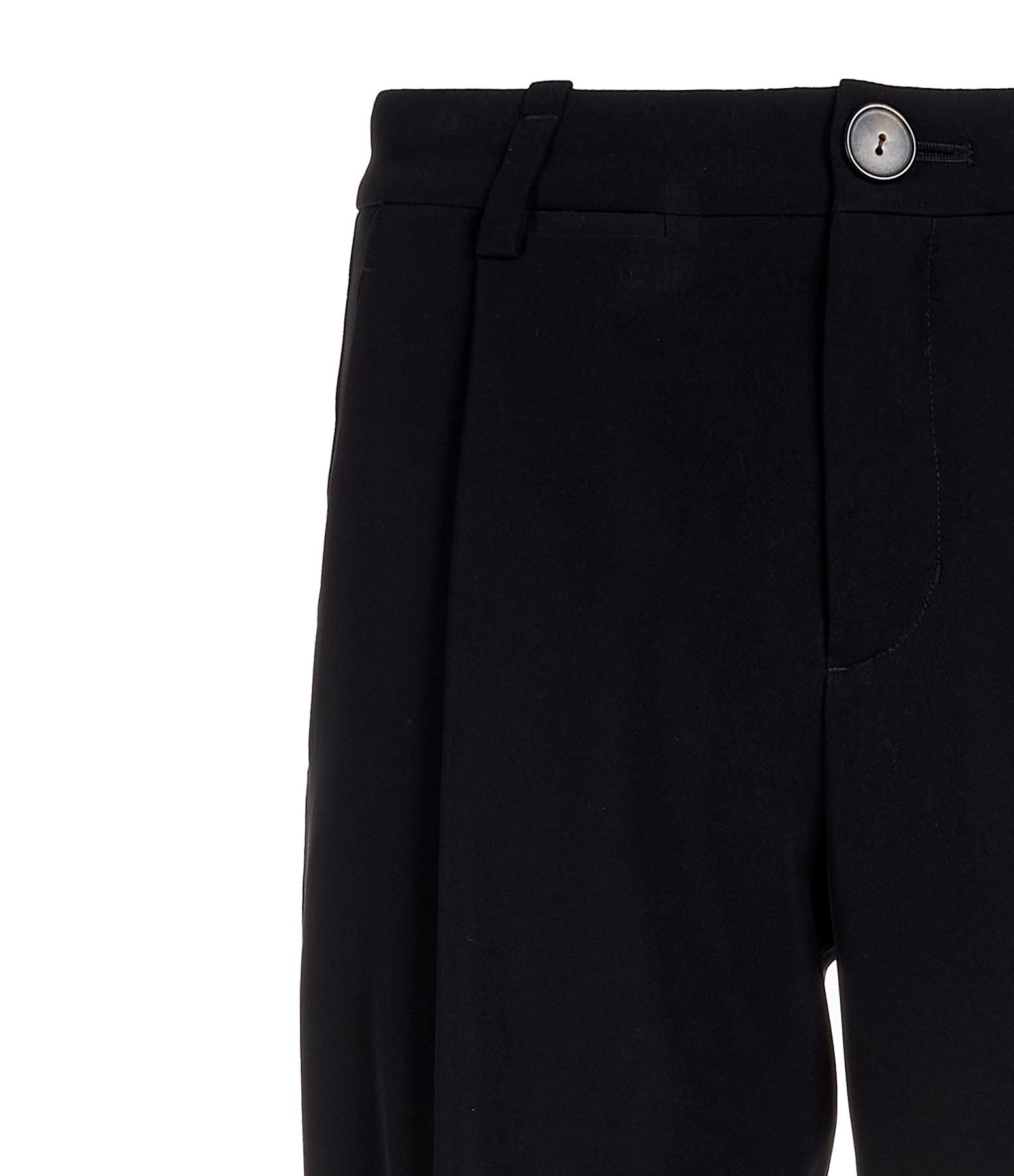 VINCE - Pantalon Taille Haute Effilé Noir
