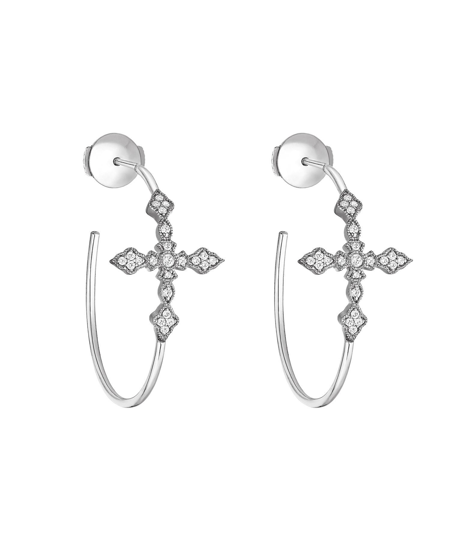 STONE PARIS - Créoles Virgin Or Diamants