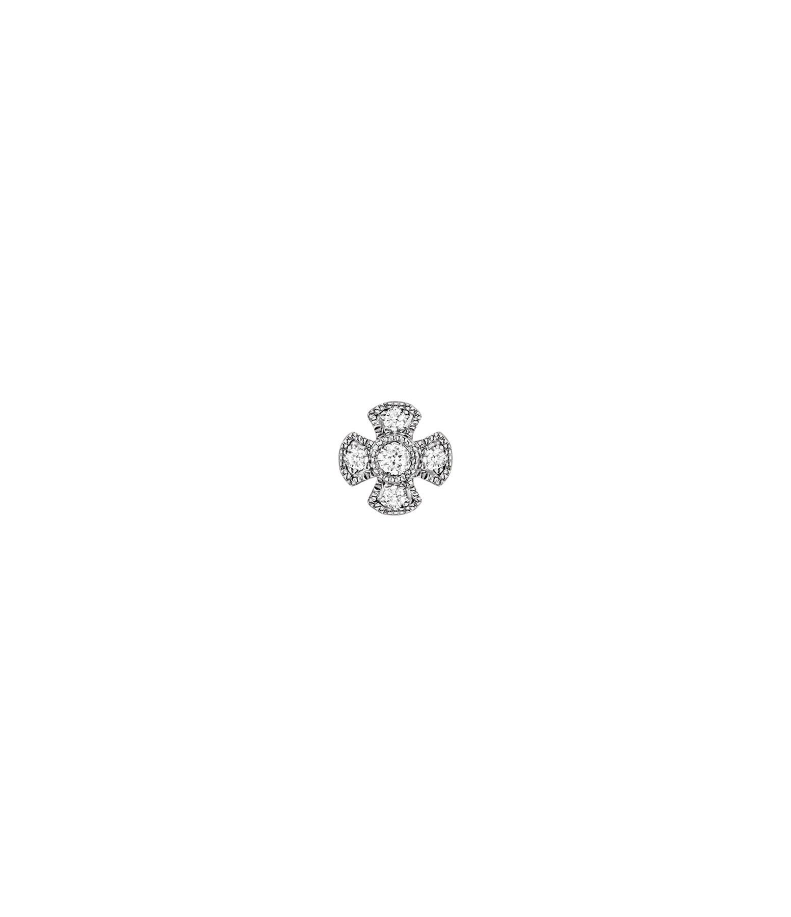STONE PARIS - Boucle d'oreille Bouton Virgin Or Diamants (vendue à l'unité)