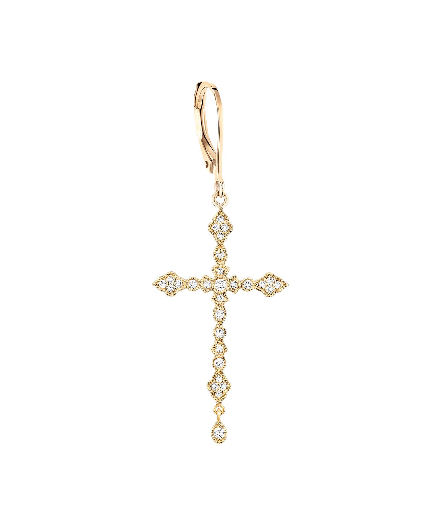 STONE PARIS - Boucle d'oreille Dormeuse Virgin Or Diamants (vendue à l'unité)