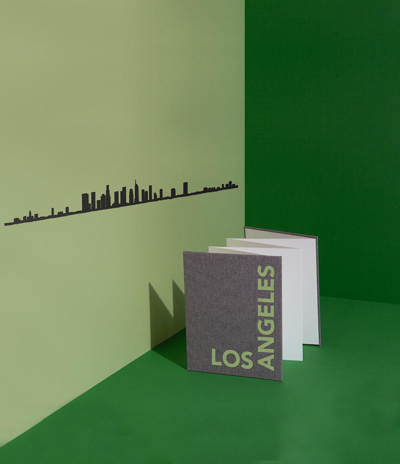 THE LINE - Sculpture Murale Métallique Los Angeles Noir