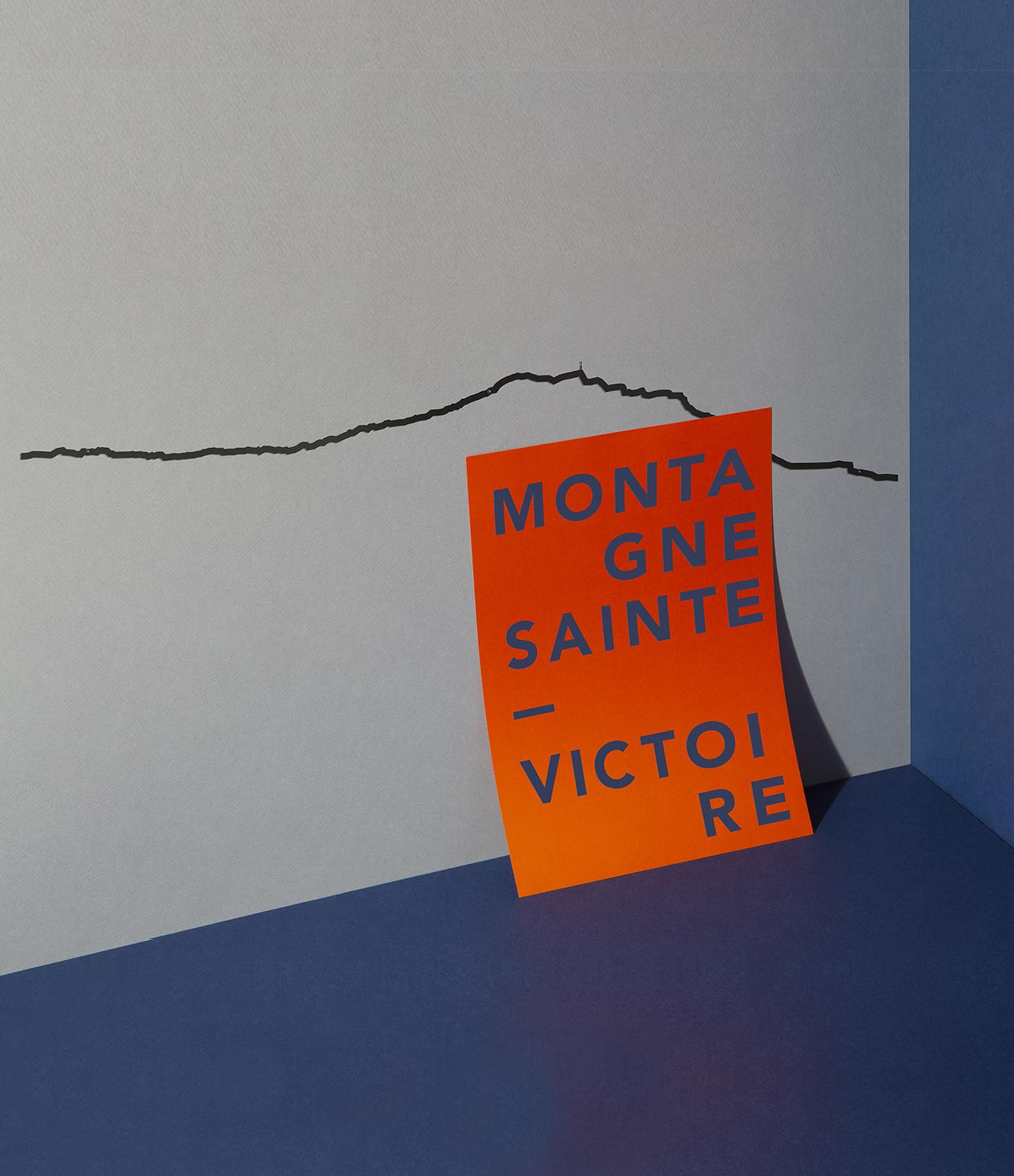 THE LINE - Sculpture Murale Métallique Sainte Victoire Noir