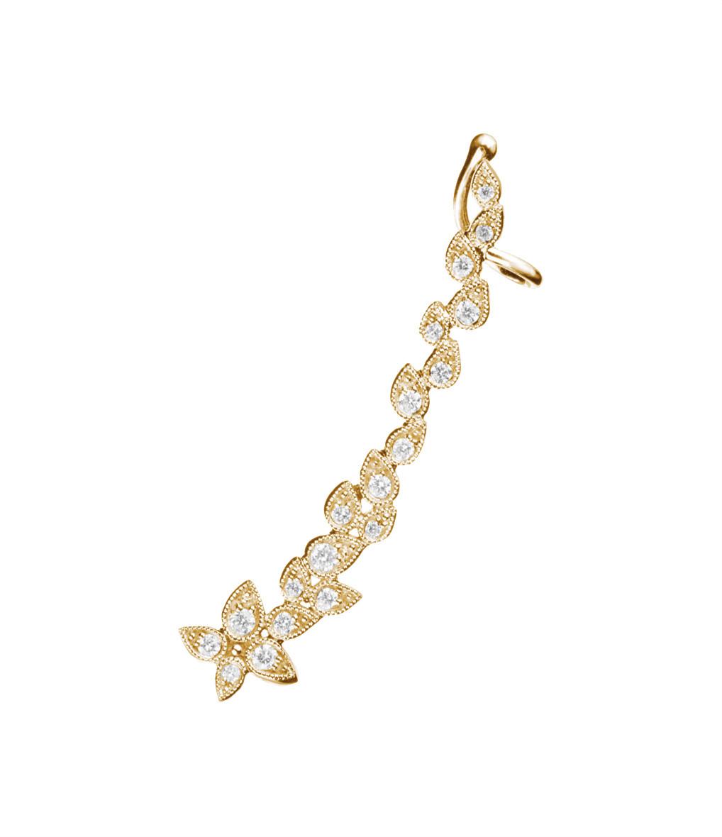 Boucle d'or. Whisper Gauche (unité) - Stone||Or jaune