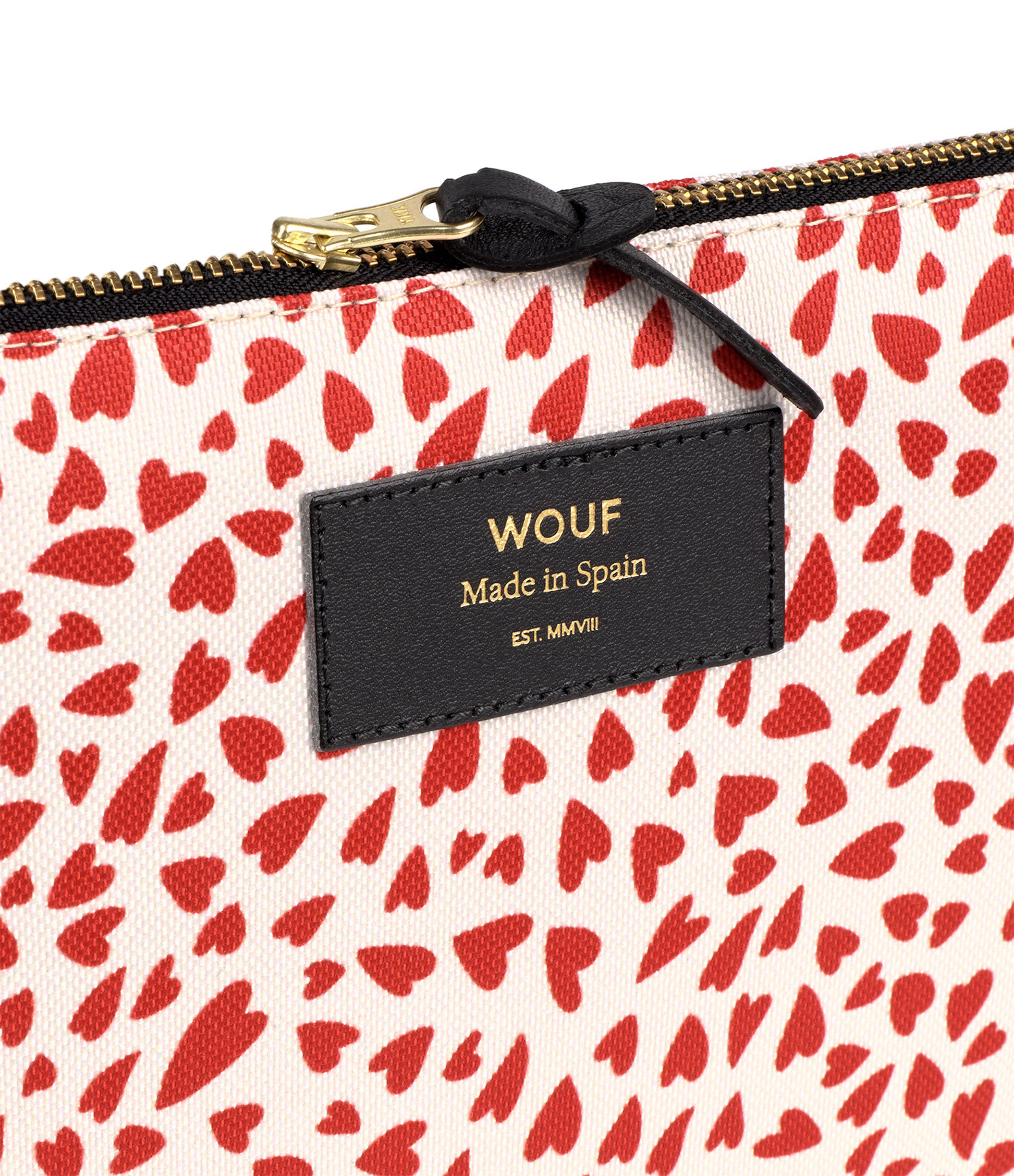 WOUF - Trousse XL White Hearts