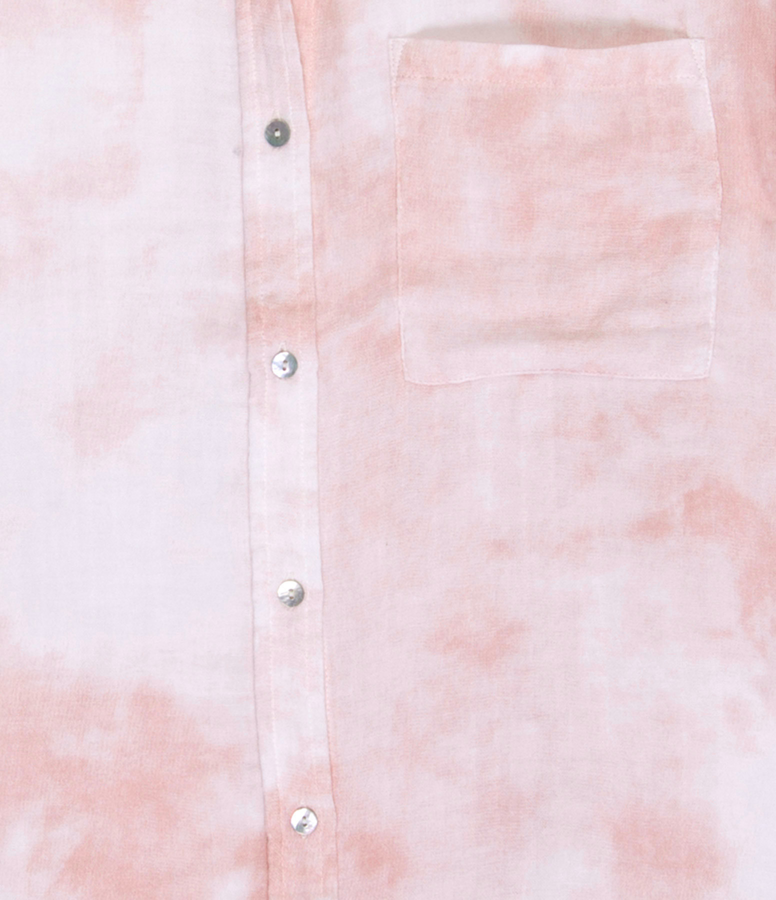 RAILS - Chemise Whitney Lin Tie and Dye Pêche Rose