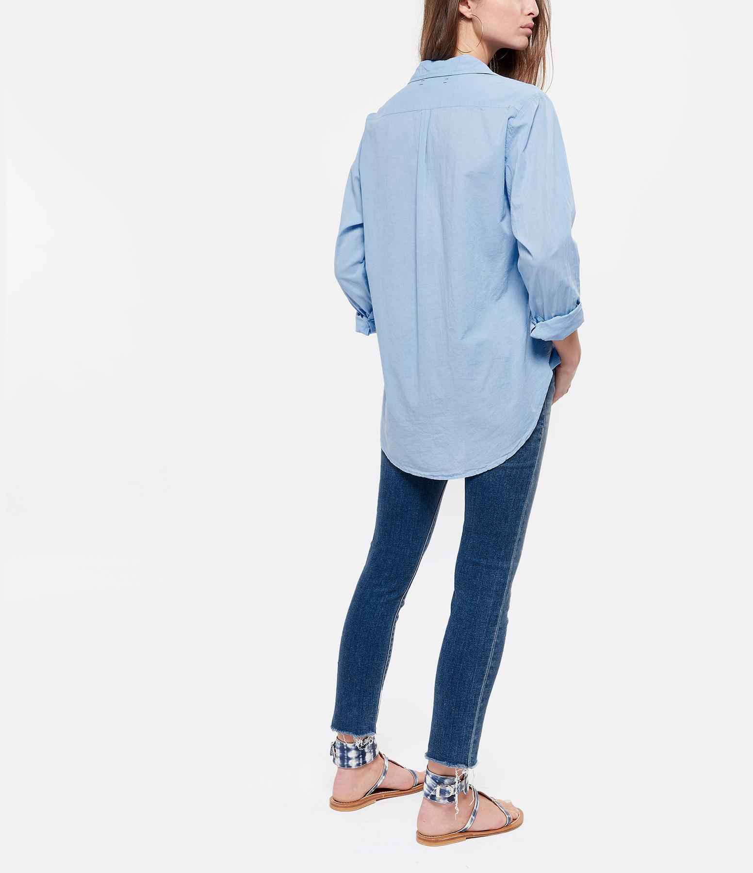 XIRENA - Chemise Beau Coton Bleu Croisière