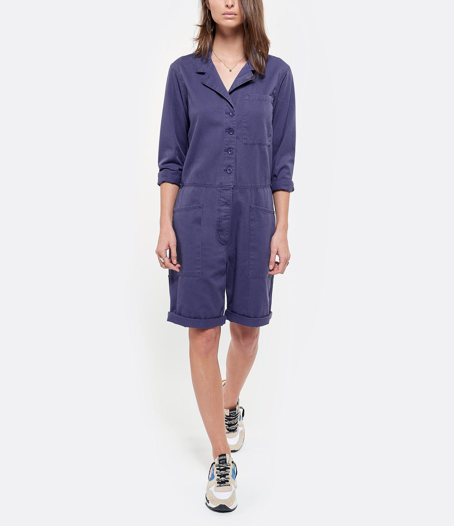 XIRENA - Combinaison Short Hartley Coton Bleu