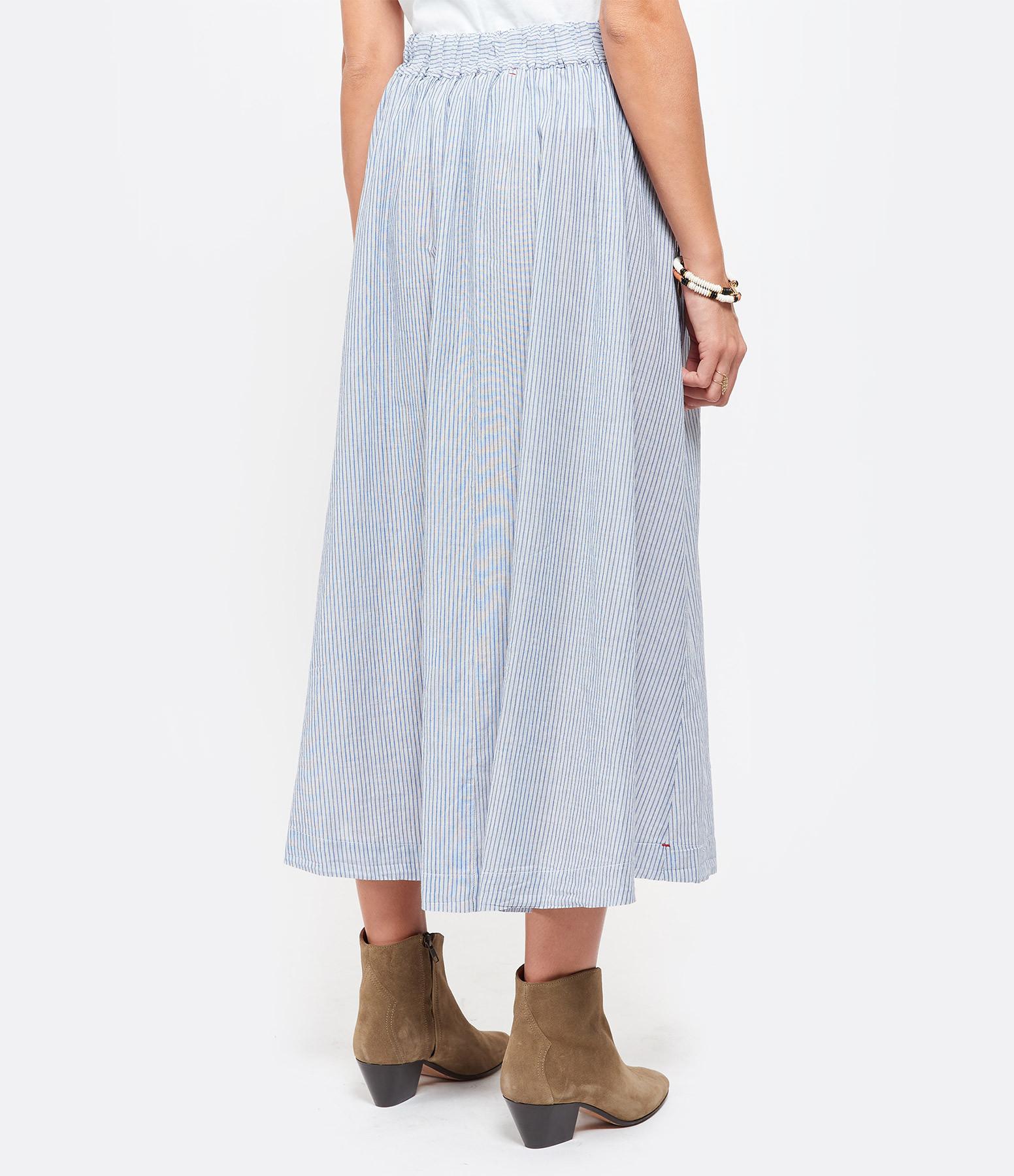XIRENA - Jupe Teagan Coton Bleu