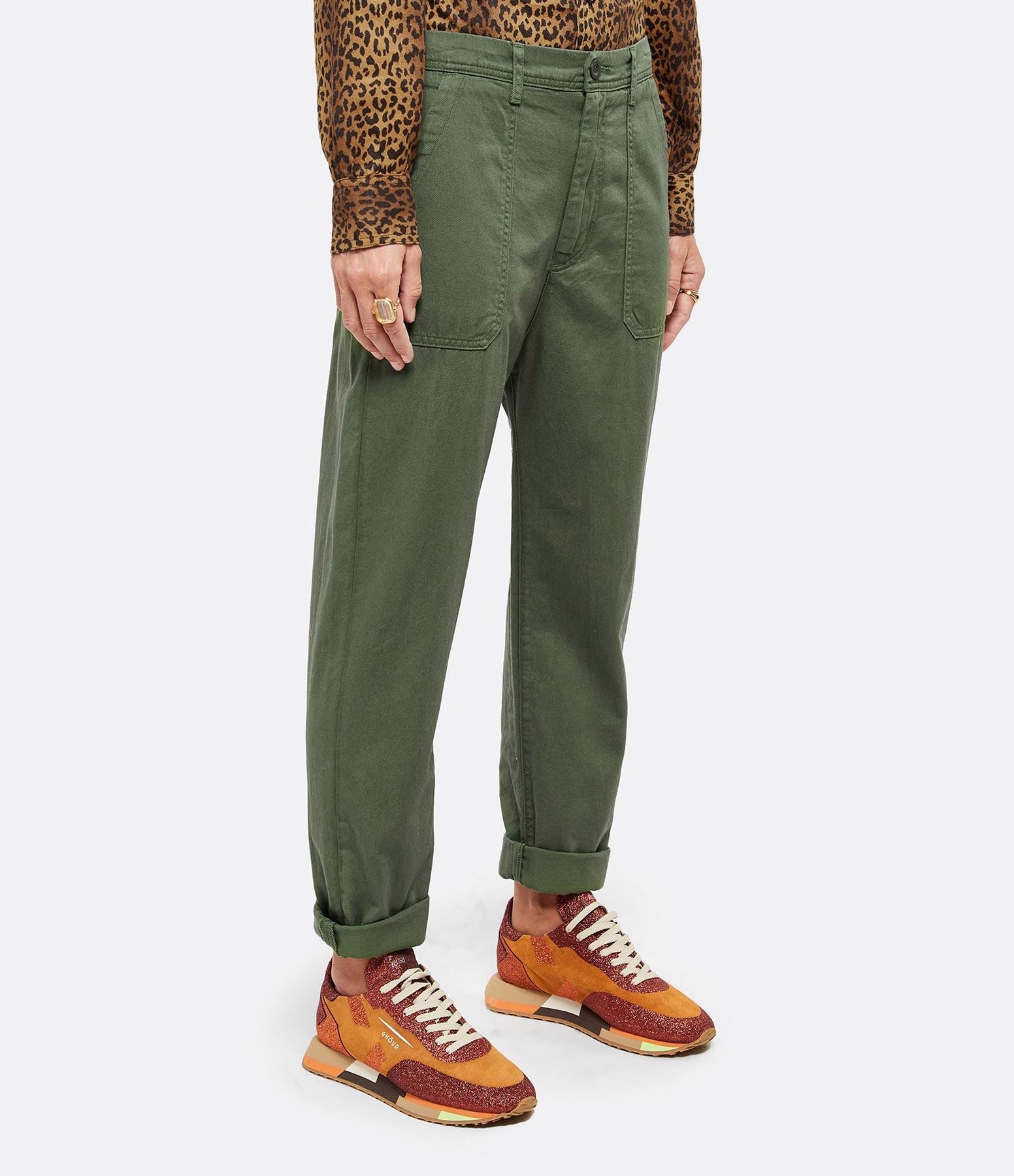 XIRENA - Pantalon Tucker Coton Surplus Kaki