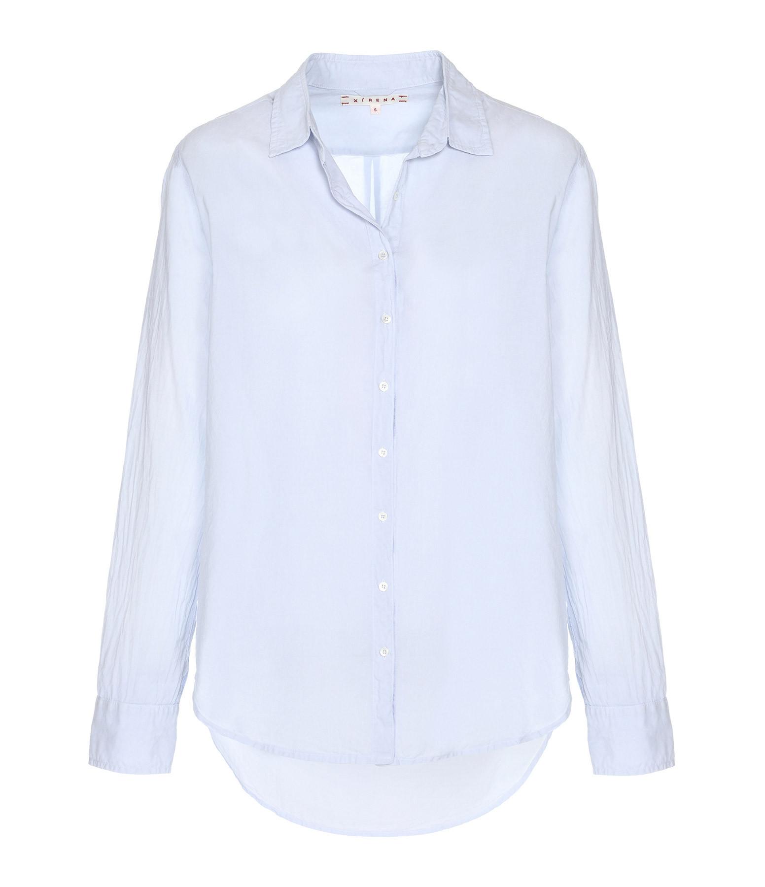 XIRENA - Chemise Beau Coton Bleu Ciel