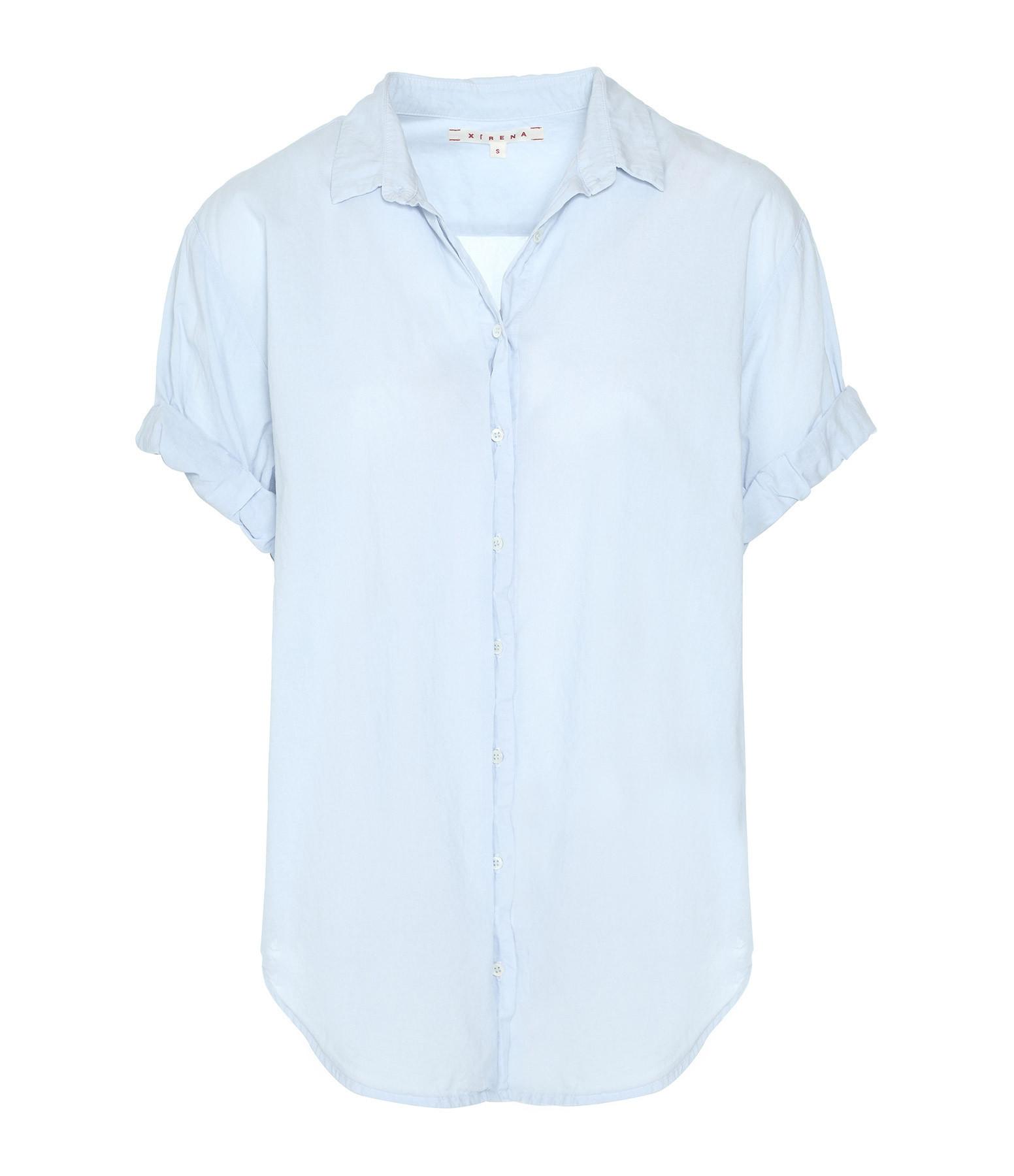XIRENA - Chemise Channing Coton Bleu Ciel