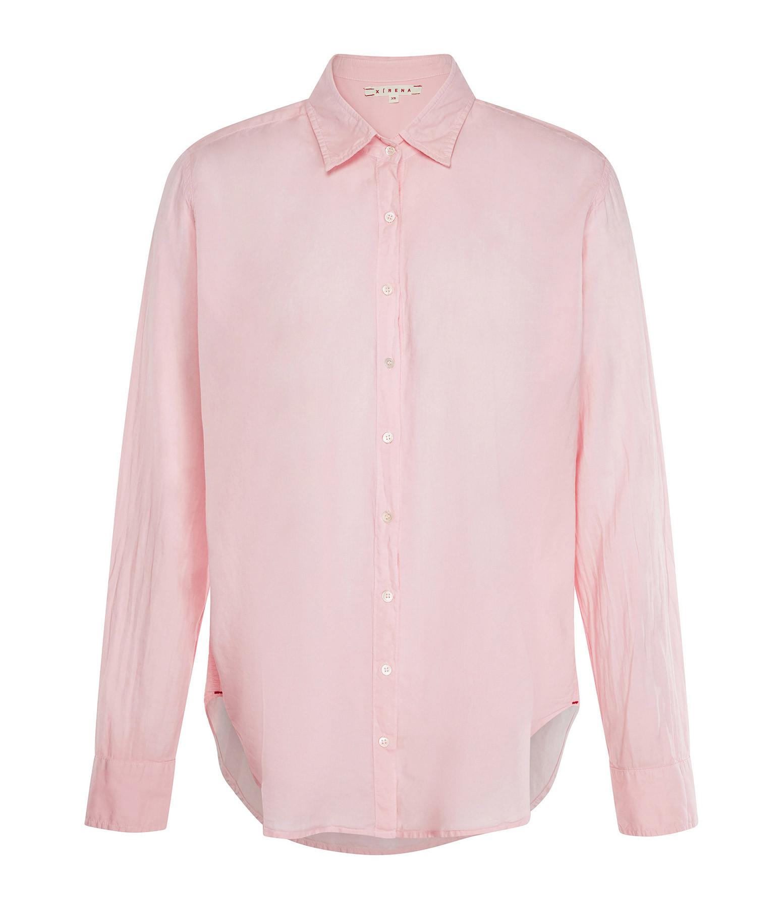 XIRENA - Chemise Beau Coton Rose Corail