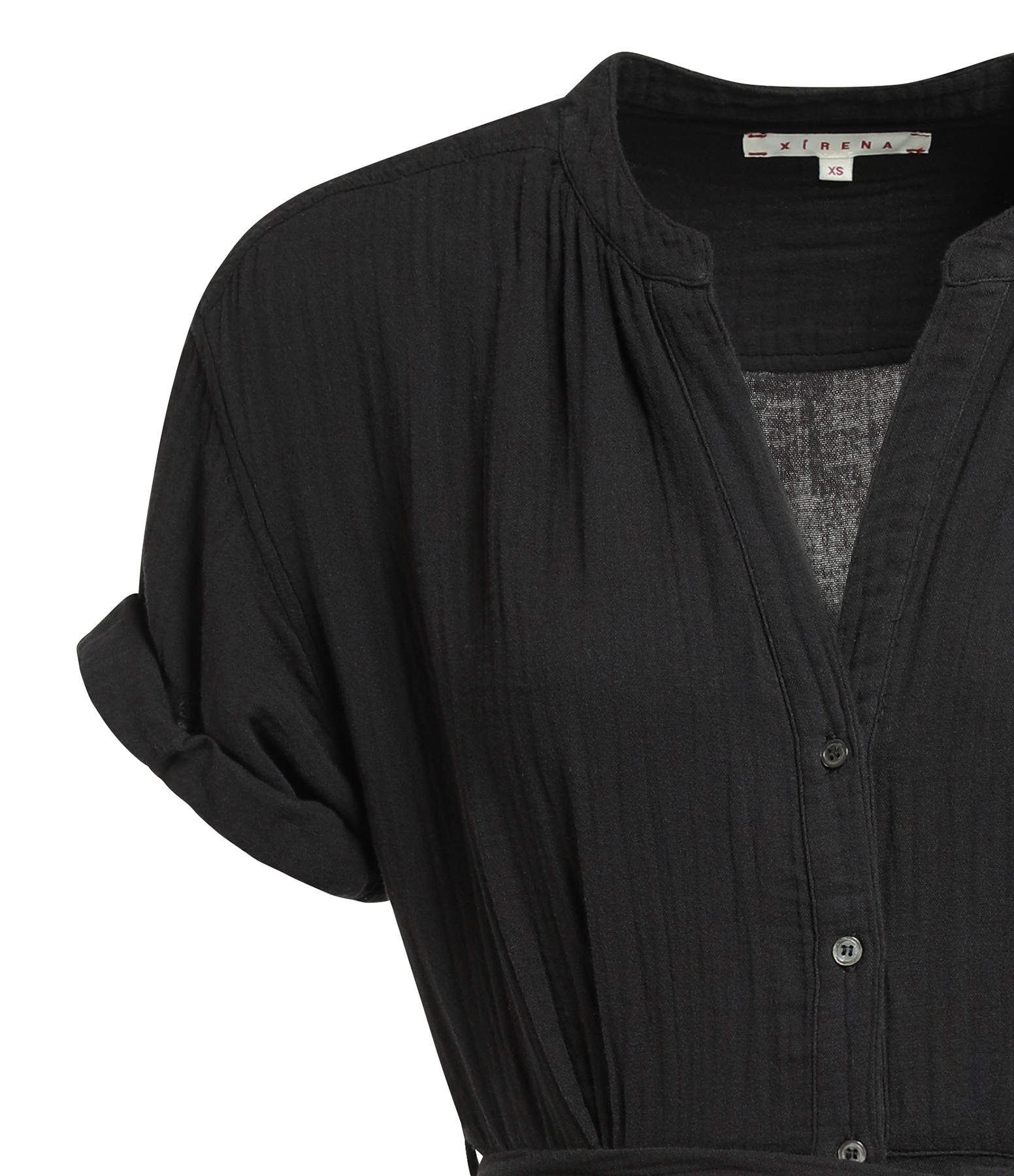 XIRENA - Robe Cate Coton Noir