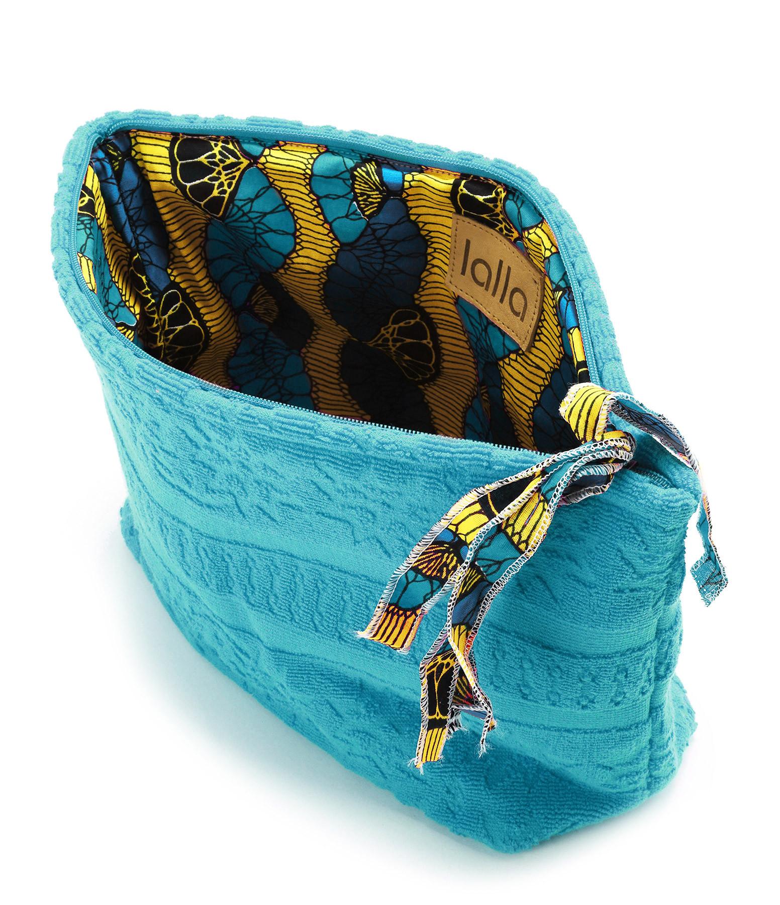 LALLA - Trousse XL Walakin Éponge Turquoise