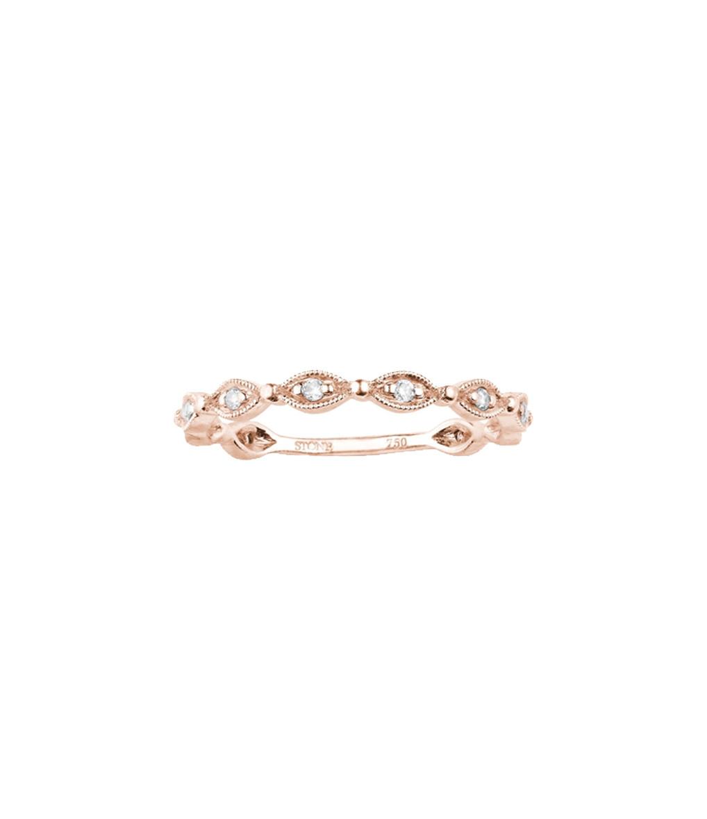 Bague Yasmine Or Diamants Blancs - Stone