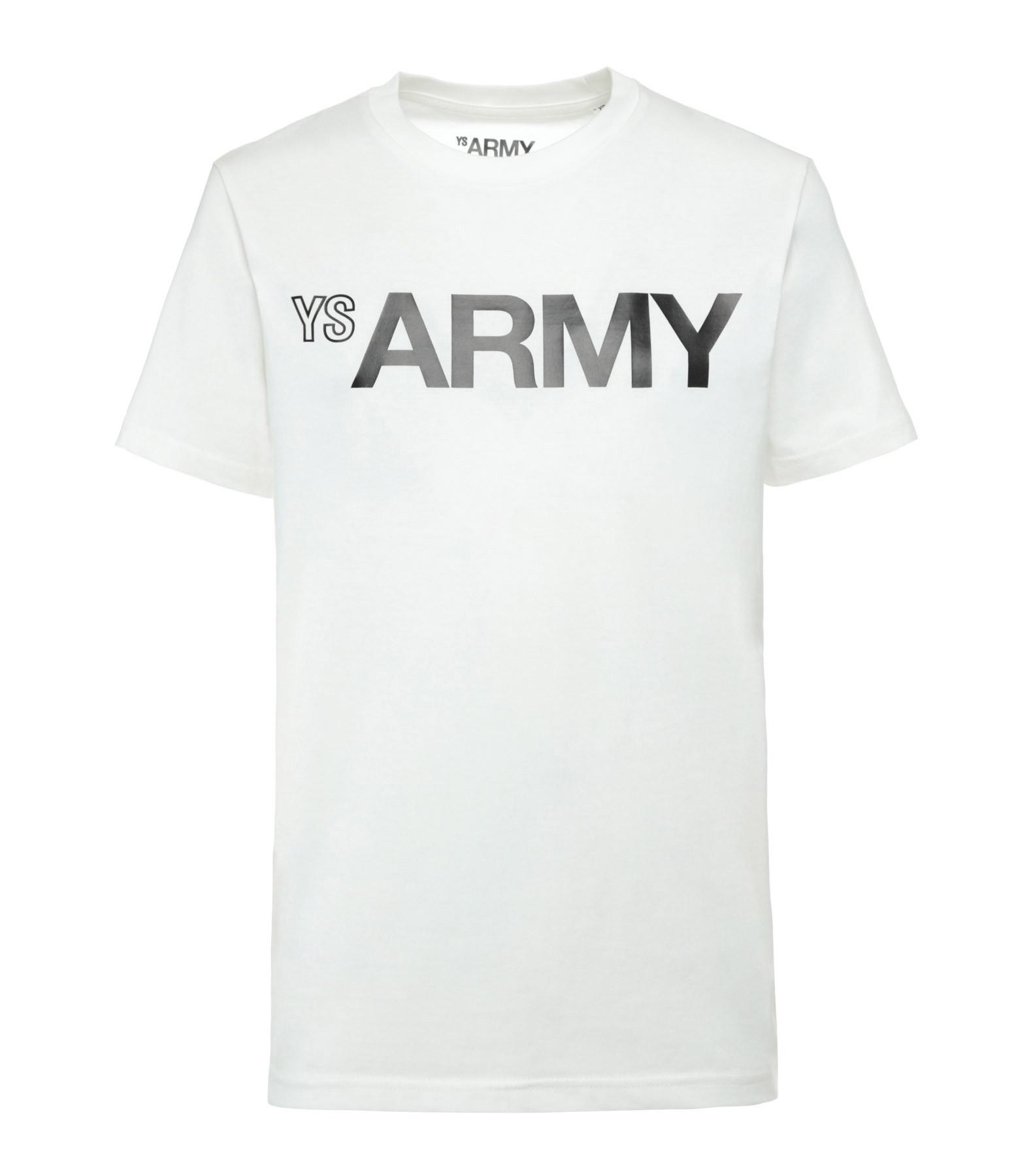 YVES SALOMON - ARMY - Tee-shirt Coton Ivoire