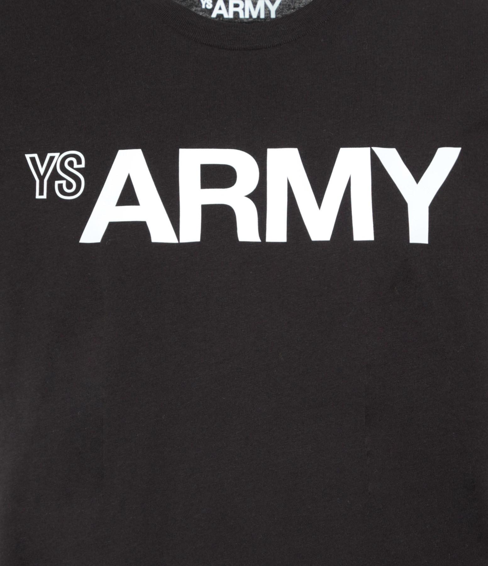 YVES SALOMON - ARMY - Tee-shirt Coton Noir