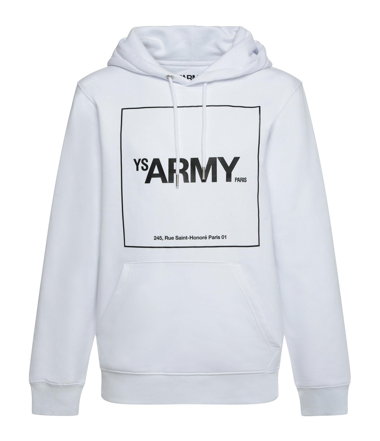 YVES SALOMON - ARMY - Sweatshirt Coton Blanc