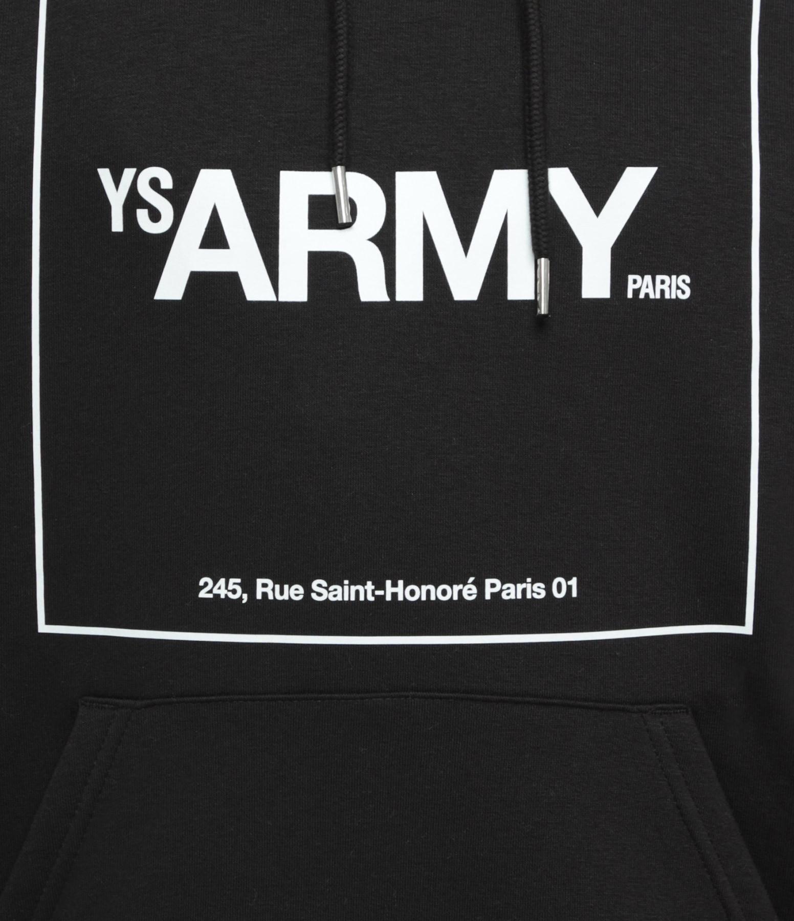 YVES SALOMON - ARMY - Sweatshirt Coton Noir
