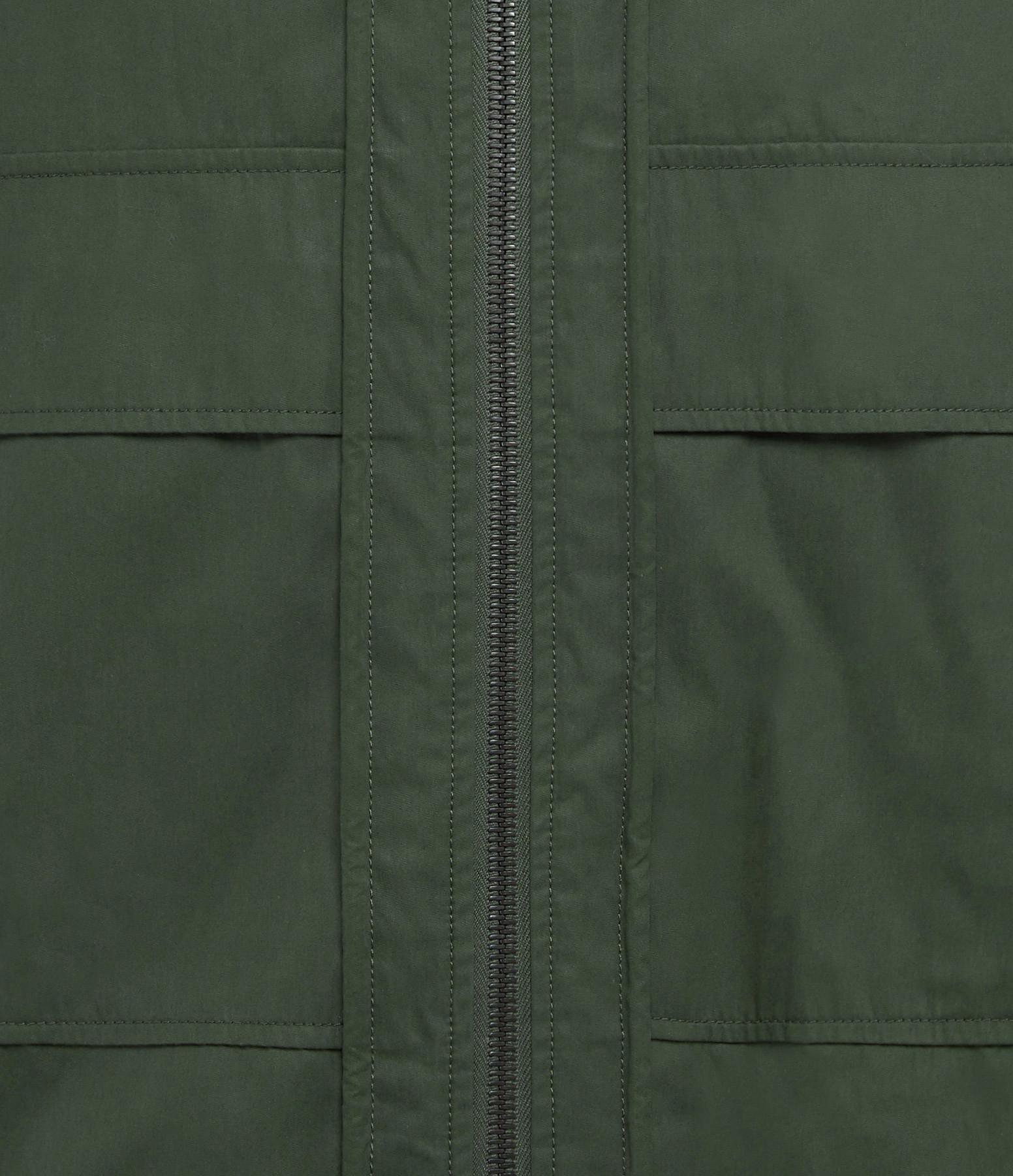 YVES SALOMON - ARMY - Veste Coton Renard Vert