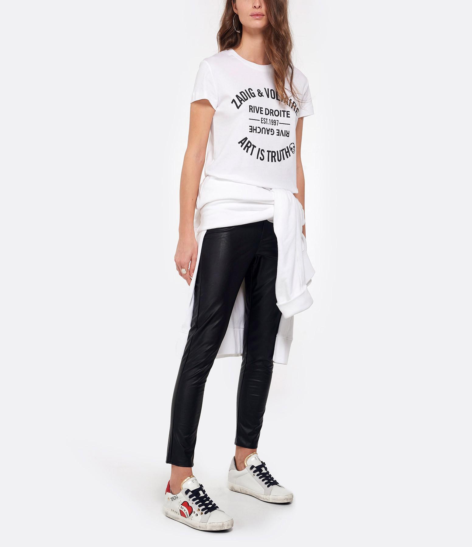ZADIG & VOLTAIRE - Tee-shirt Walk Blason Coton Blanc